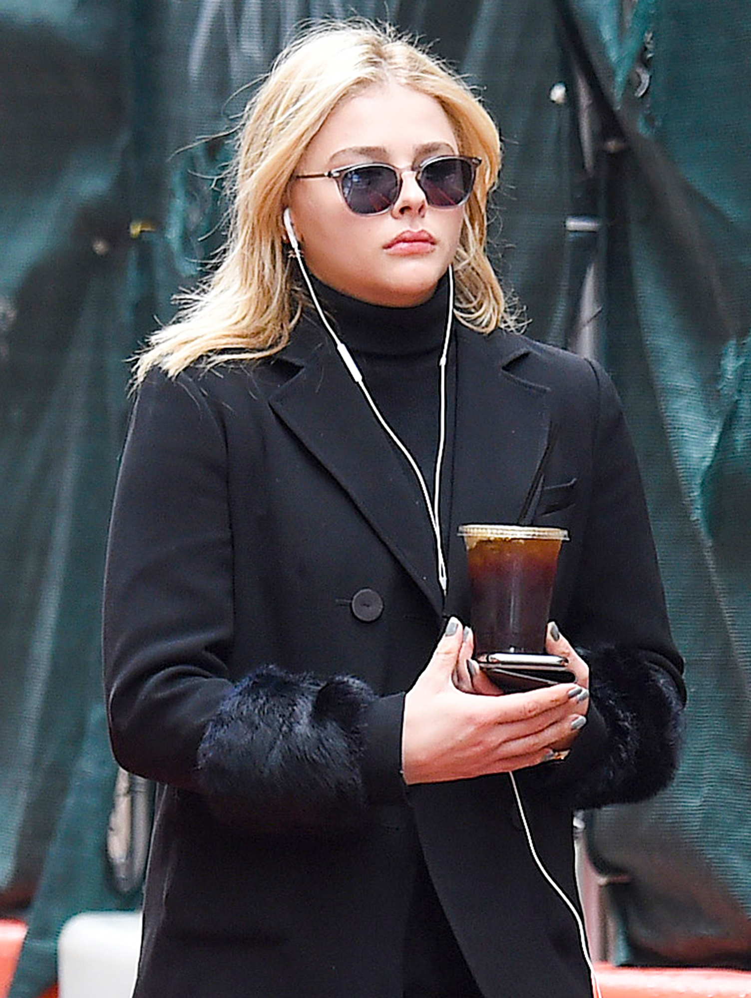 Chloe Moretz Looks Downcast as She Steps Out Solo in New York City