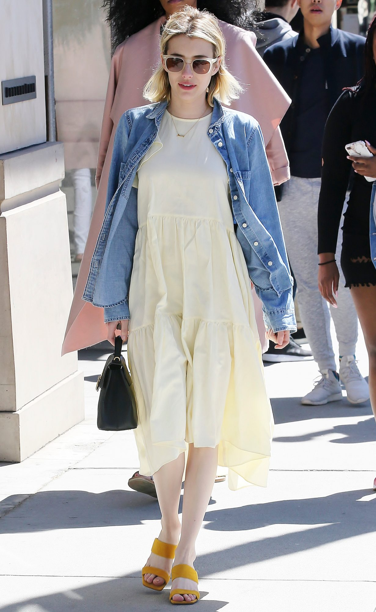 Emma Roberts goes shopping at Sandro in Beverly Hills, California
