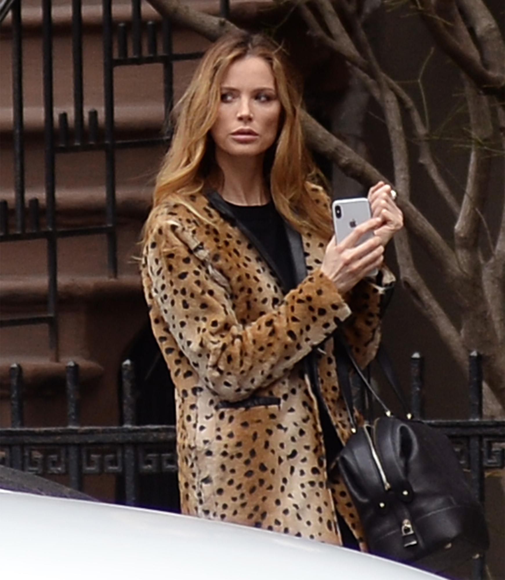 EXCLUSIVE: Georgina Chapman the Ex-Wife of Harvey Weinstein is spotted leaving his west village apartment this morning after reports he sold it few weeks ago for 26.6 millions