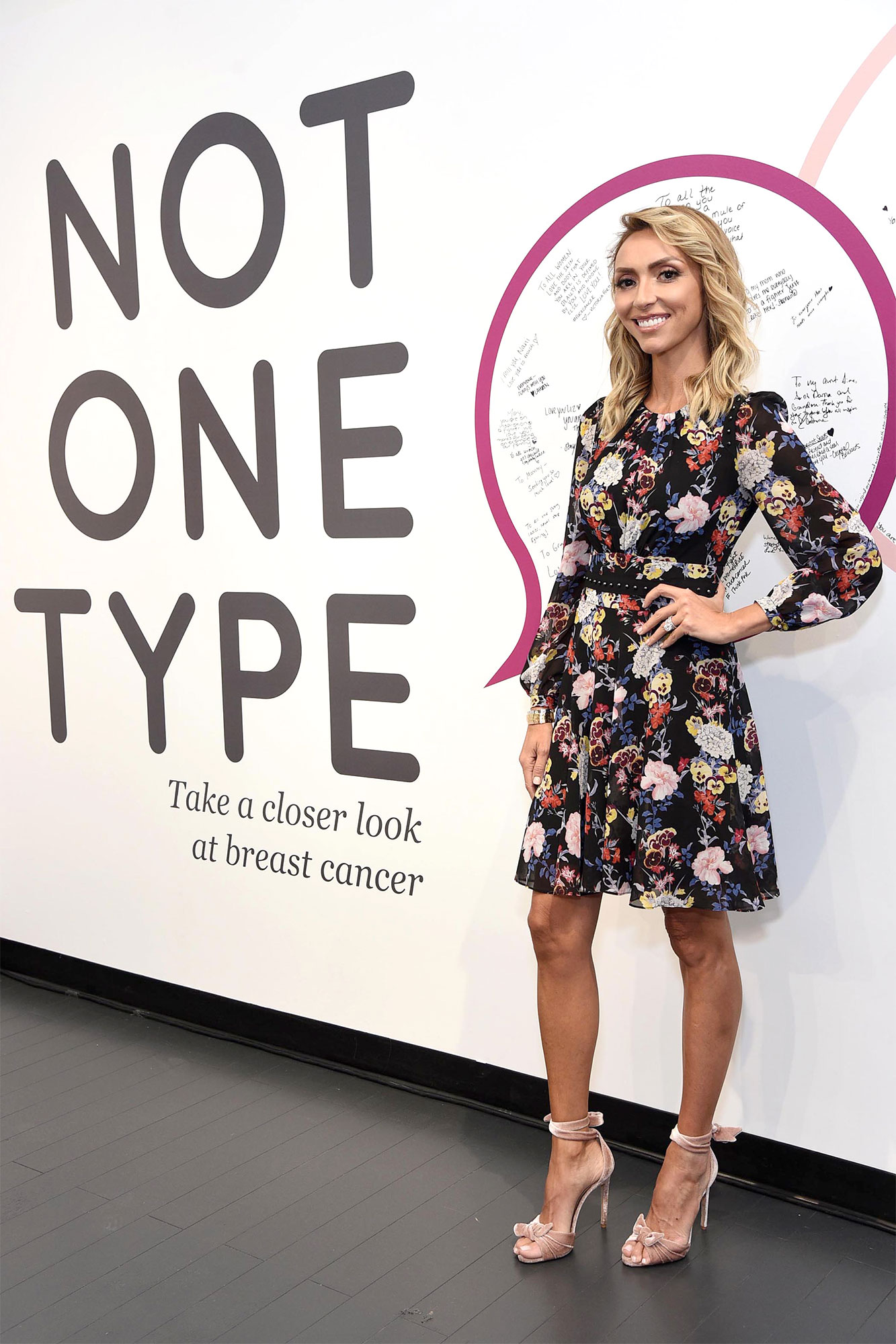 Giuliana Rancic at the Not One Type pop-up Sponsored by Genentech