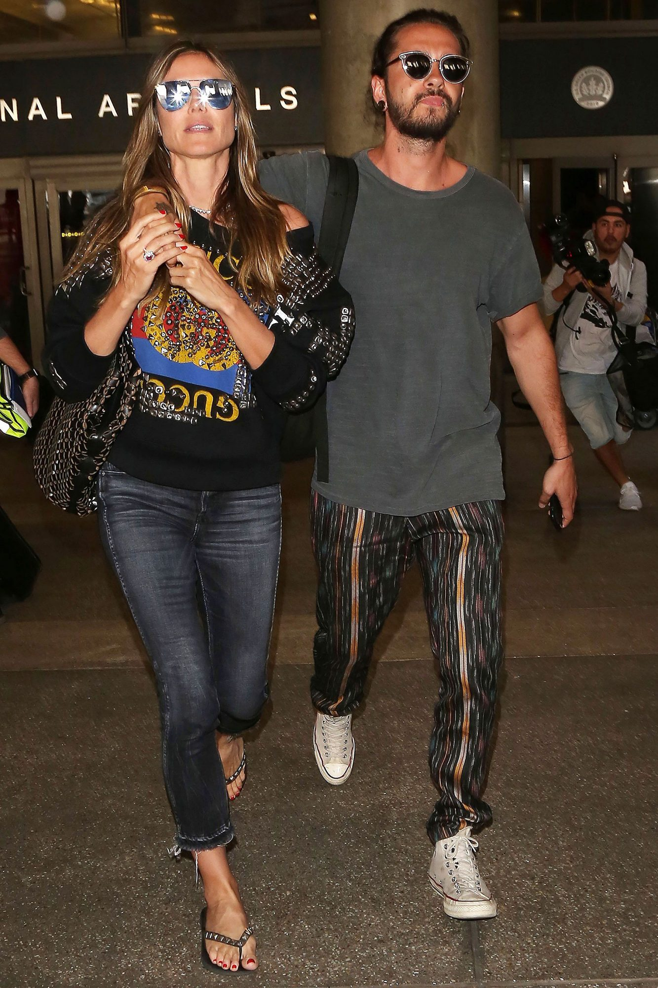Heidi Klum and Tom Kaulitz at LAX International Airport, Los Angeles, USA - 12 Apr 2018