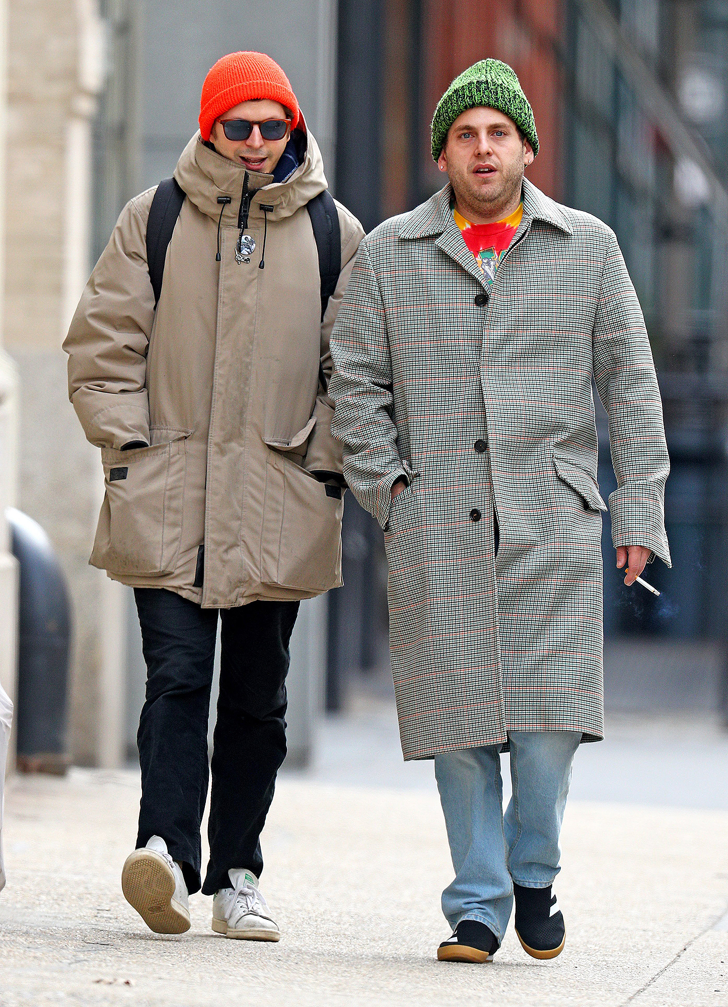 EXCLUSIVE: Jonah Hill and Michael Cera spotted hanging out together in Tribeca
