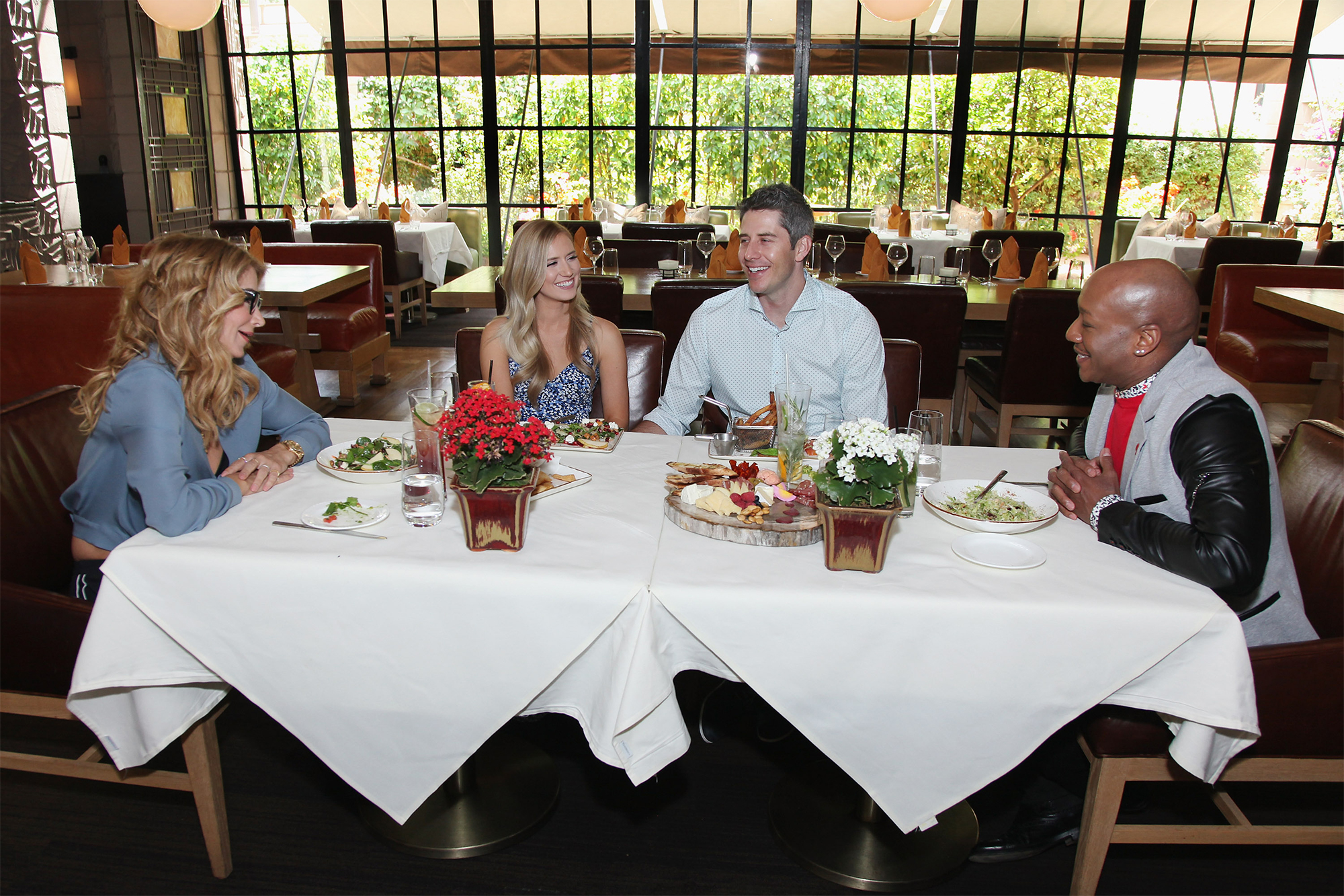 """Arie Luyenkdyk Jr. and Lauren Burnham meet with WE tv's """"Marriage Boot Camp: Reality Stars"""" Counselors"""