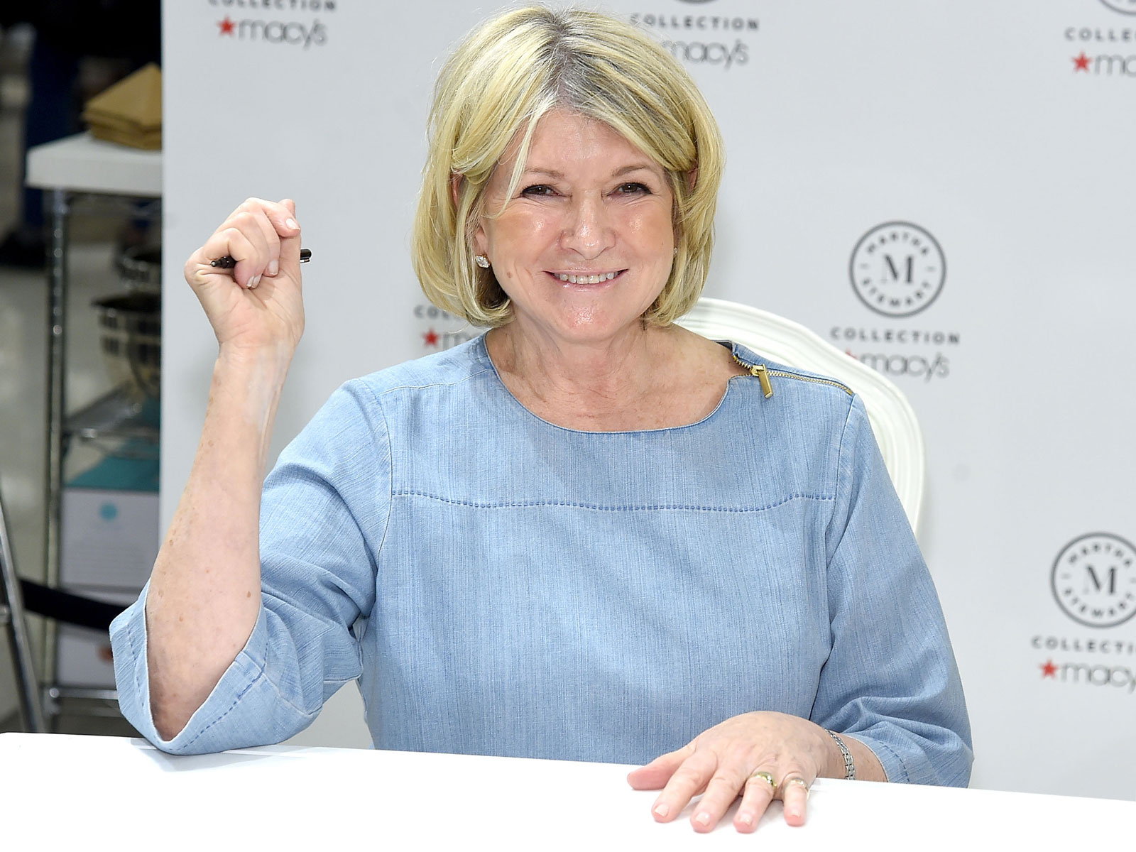 "Martha Stewart Signs Copies Of Her New Book ""Martha's Flowers"""