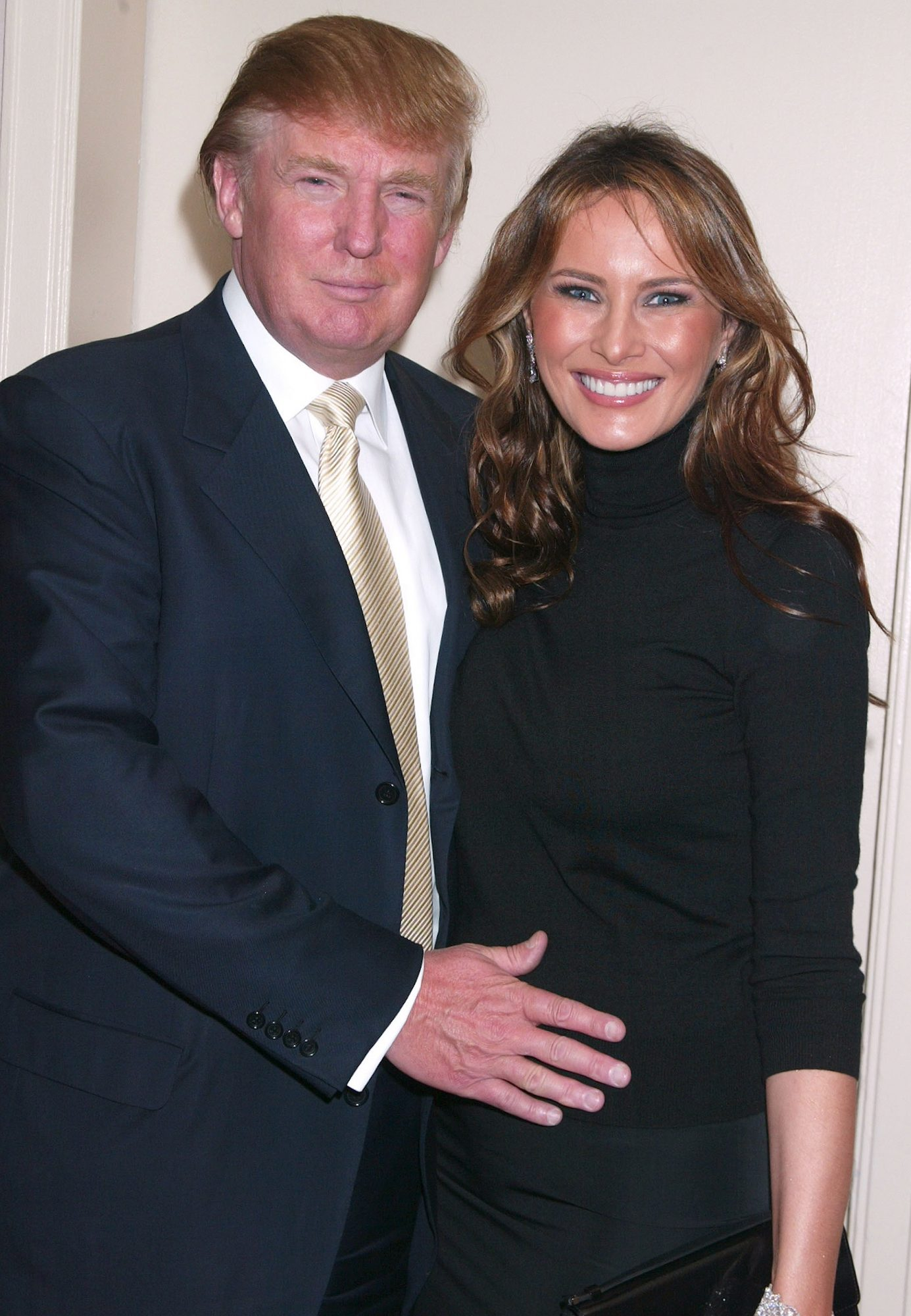 Donald Trump and Melania Knauss who is pregnant The 2005 IRTS Foundation Awards Waldorf-Astoria New York City, New York United States October 6, 2005 Photo by Gregory Pace/FilmMagic.com To license this image (6144249), contact FilmMagic: U.S. +1-212-812-4100 / U.K. +44-207-659-2813 / Australia +61-2-9006-1785 / Japan: +81-3-5464-7020 +1 212-202-7732 (fax) sales@filmmagic.com (e-mail) www.filmmagic.com (web site) waldorf-astoria contributing photographer united states call u.s. +1-212-812-4100 / u.k. +44-207-659-2813 / australia +61-2-9006-1785 / japan: +81-3-5464-7020 or e-mail sales@filmmagic