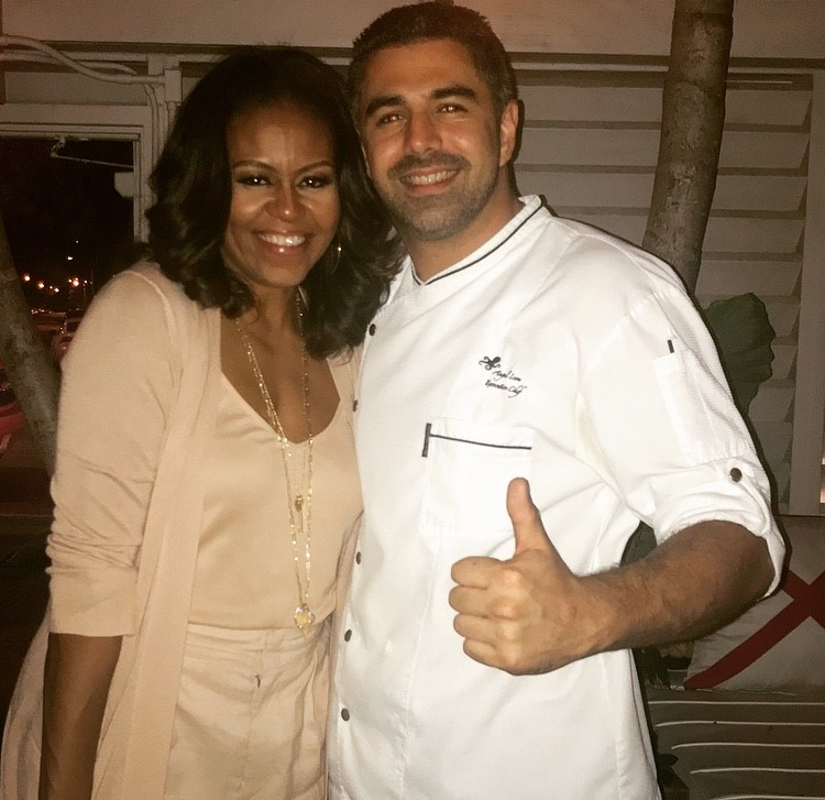 michelle obama and chef angel leon
