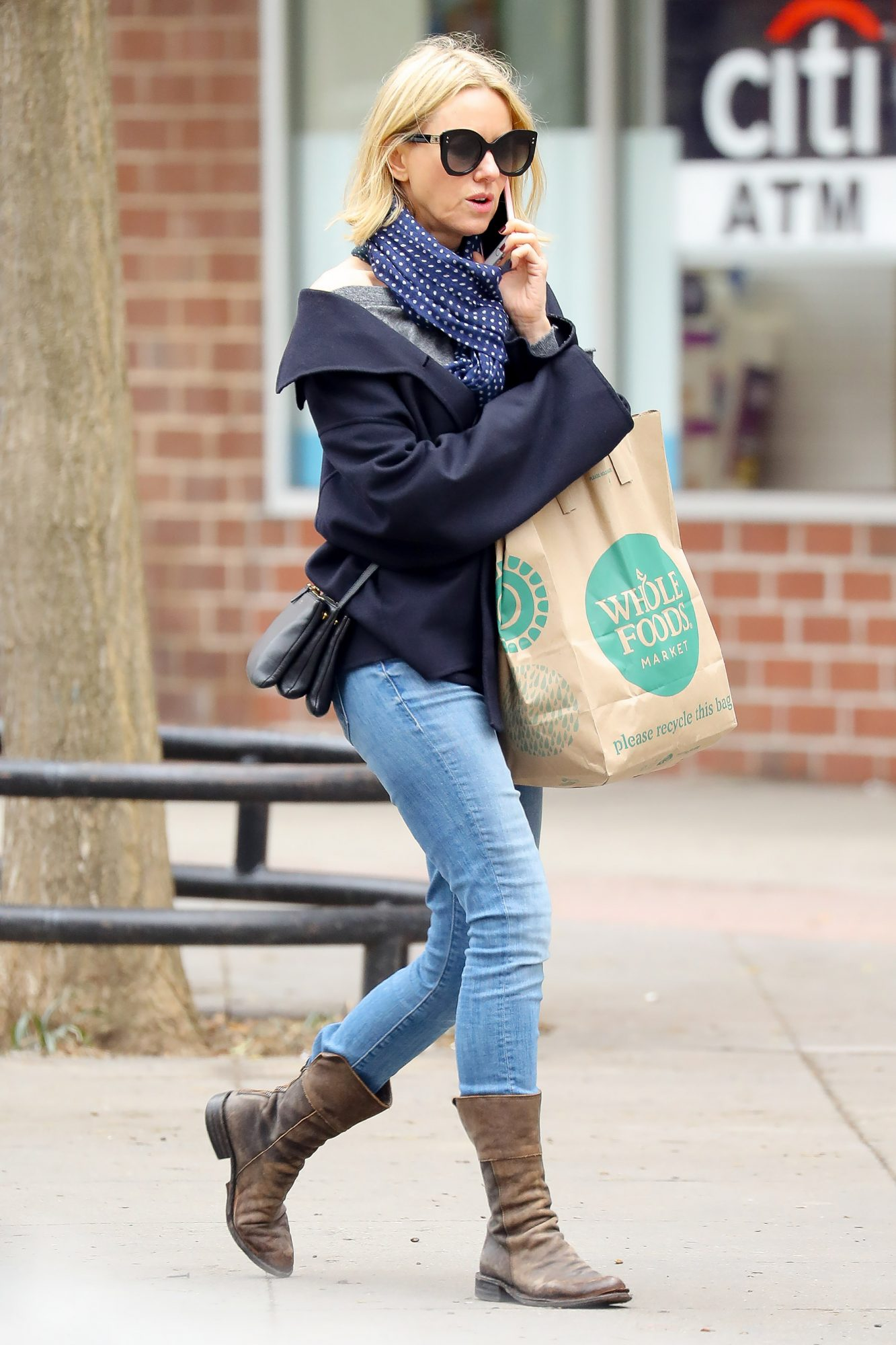 EXCLUSIVE: Naomi Watts takes a trip to the Whole Foods to buy her groceries in New York City