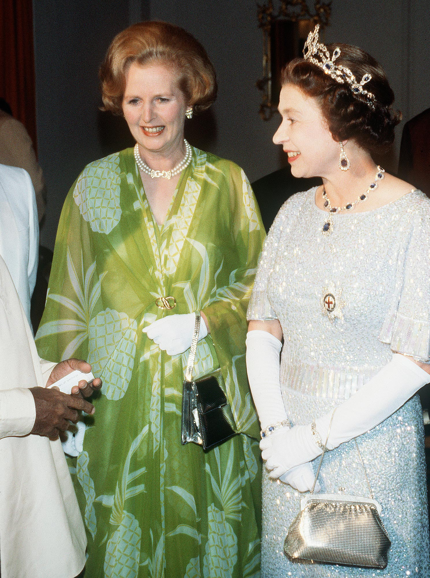 ZMB: Queen Elizabeth II and Margaret Thatcher visit Zambia