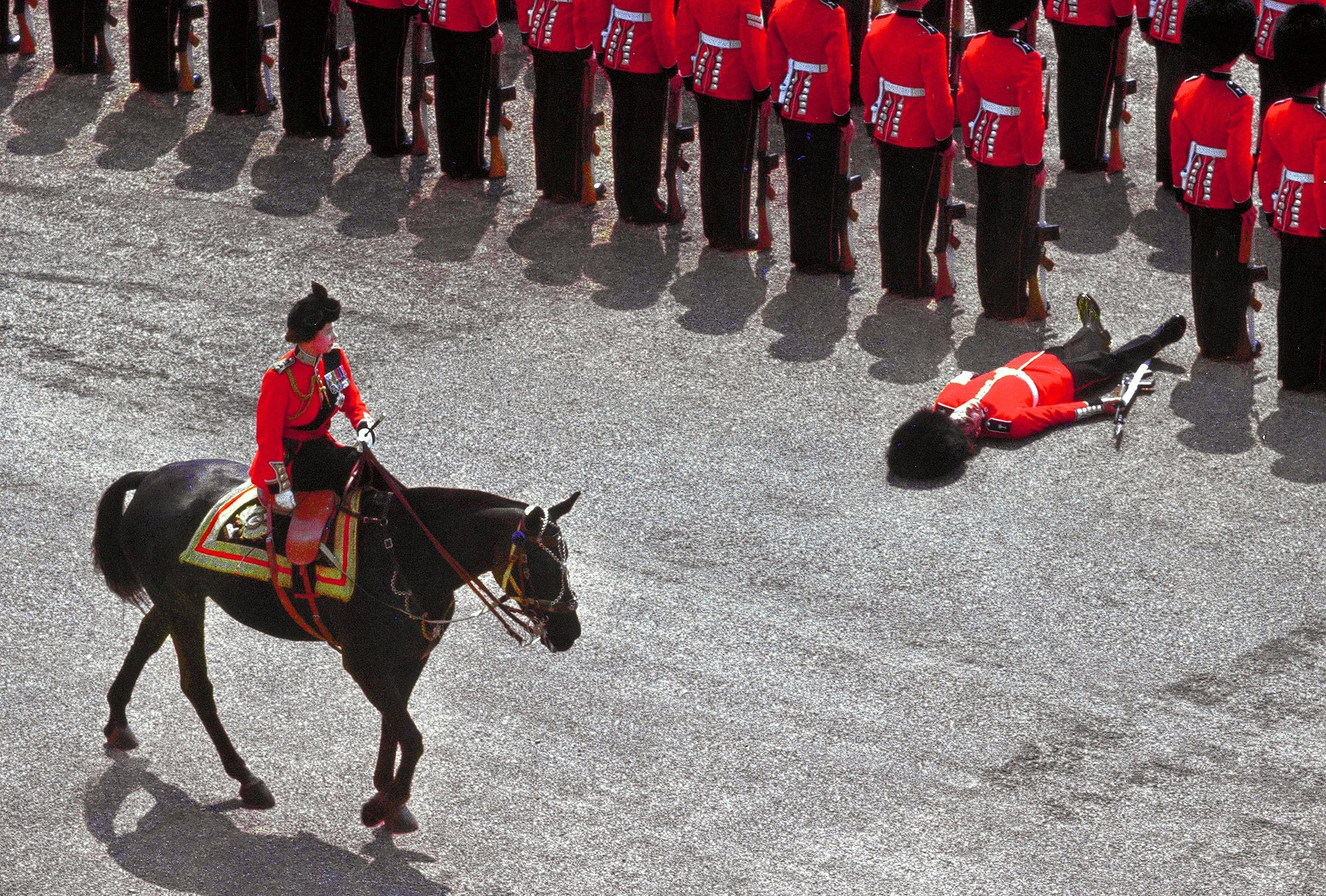 Queen Elizabeth II During Trooping The Colour Parade In London  In 1970