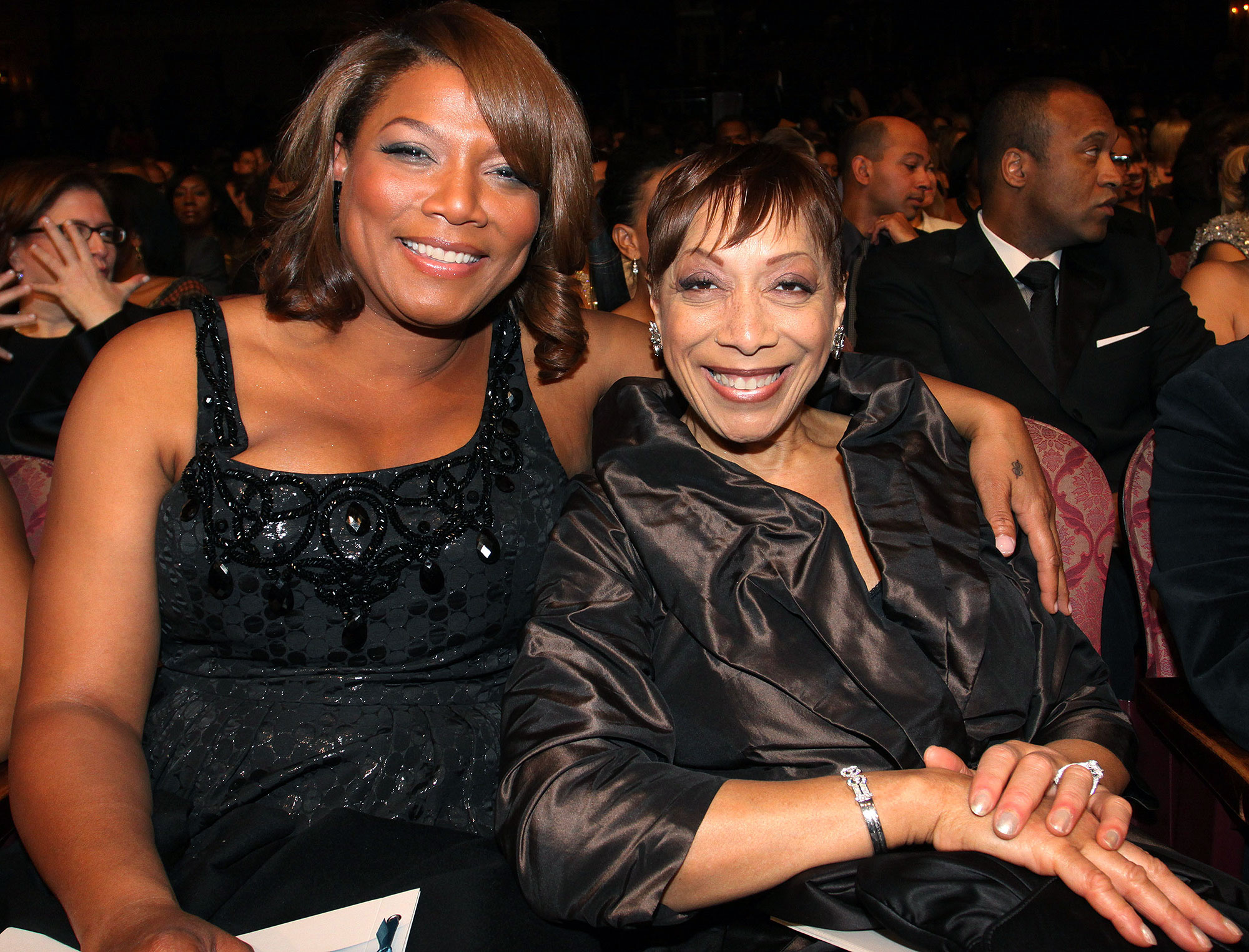 Queen Latifah with mom Rita Owens