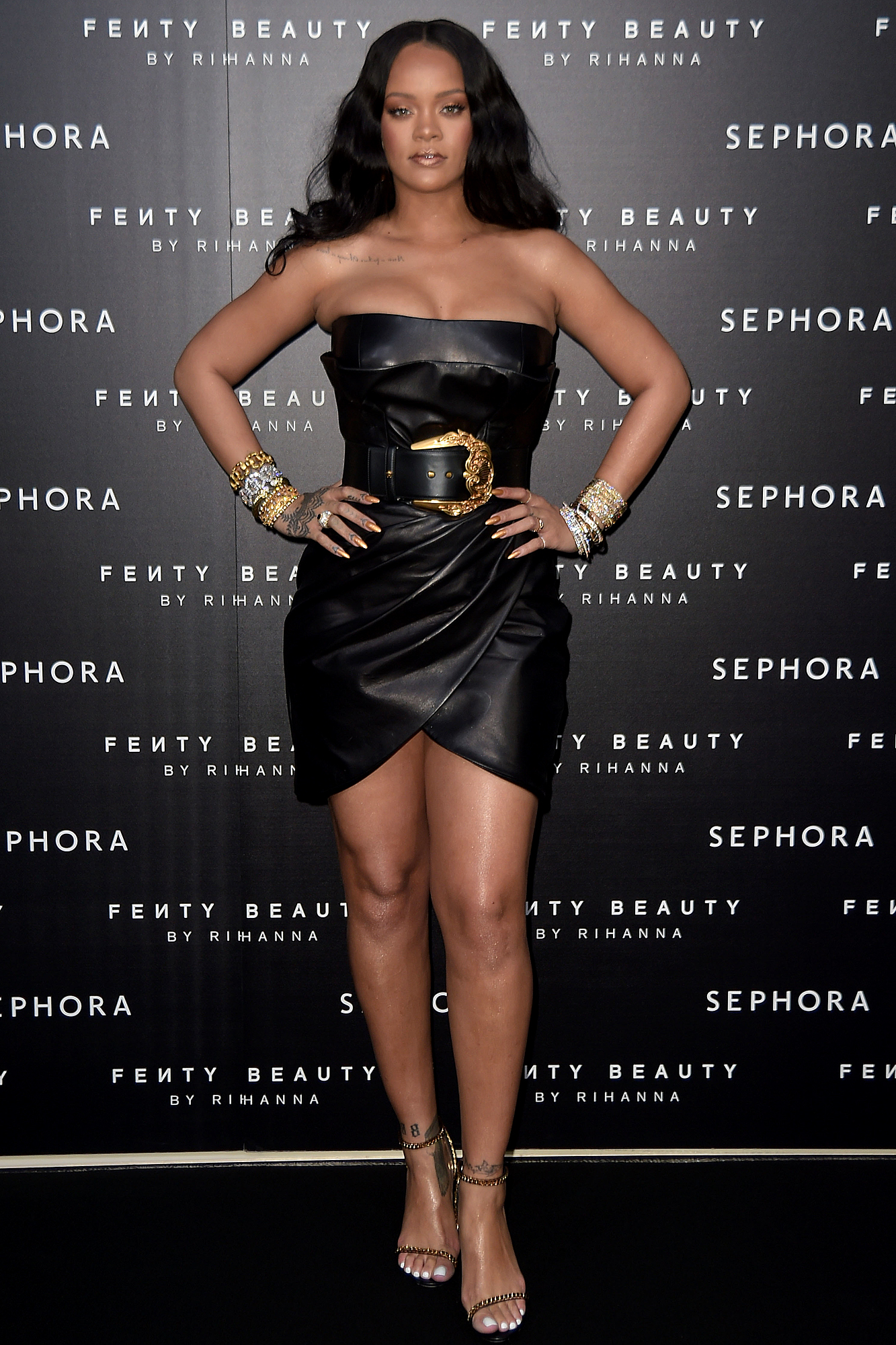 'Fenty' by Rihanna makeup launch, Milan, Italy - 05 Apr 2018
