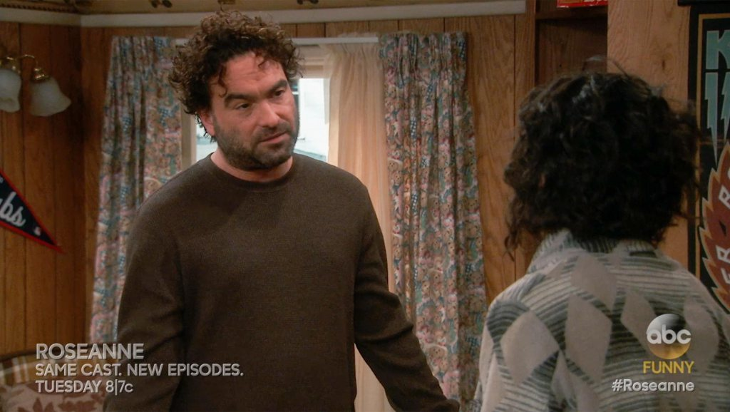 Johnny Galecki on Roseanne screen grab CR: ABC
