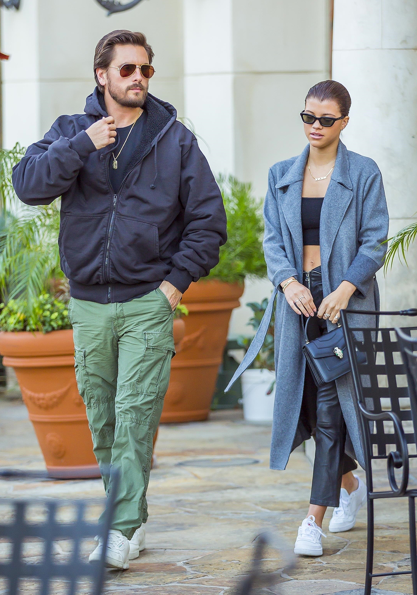 *EXCLUSIVE* Scott Disick and Sofia Richie enjoy a dinner date at Sugarfish