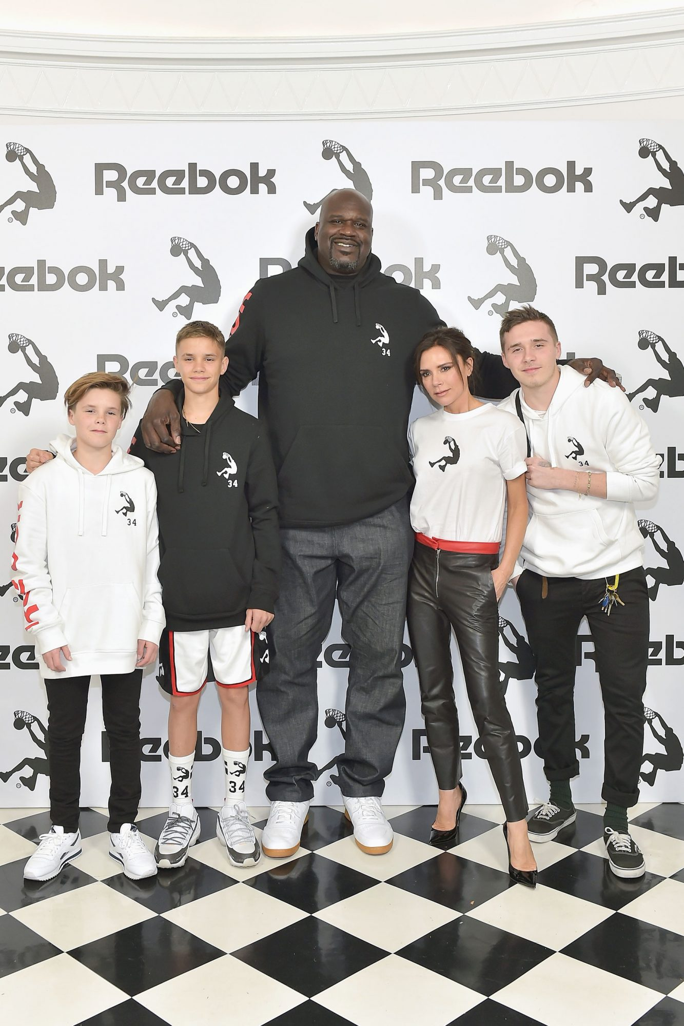 Reebok And Victoria Beckham Celebrate Their Partnership With An Intimate Los Angeles Event. Special Guest Shaquille O'Neal Officially Welcomes Victoria To The Reebok Team