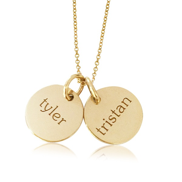 Tiny Tags Gold Mommy Name Necklace
