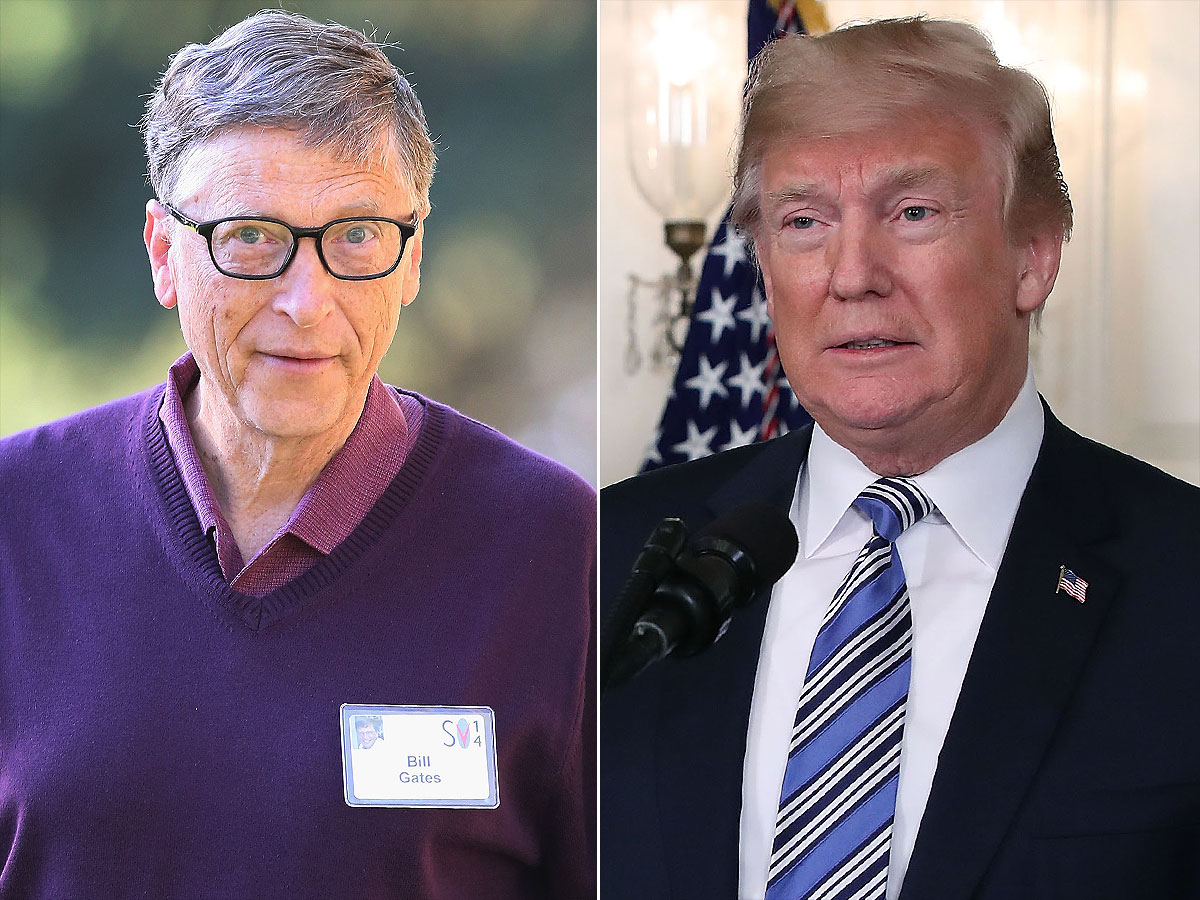 Bill Gates: Donald Trump Twice-Asked HPV and HIV Difference | PEOPLE.com