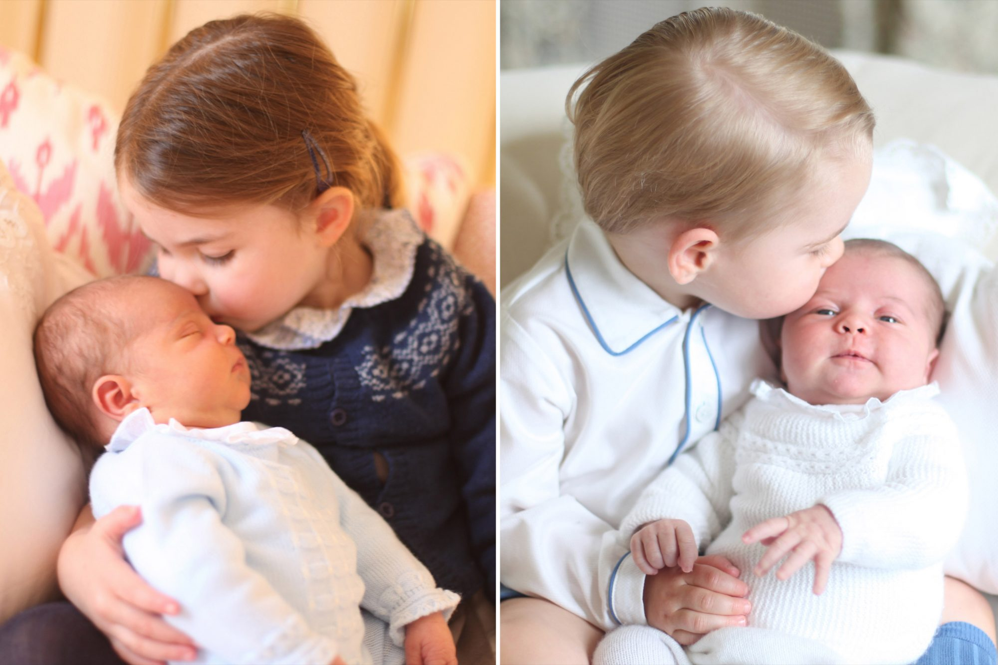 See How Prince Louis' First Portrait Stacks Up Against Charlotte's (Complete with Royal Kiss!)