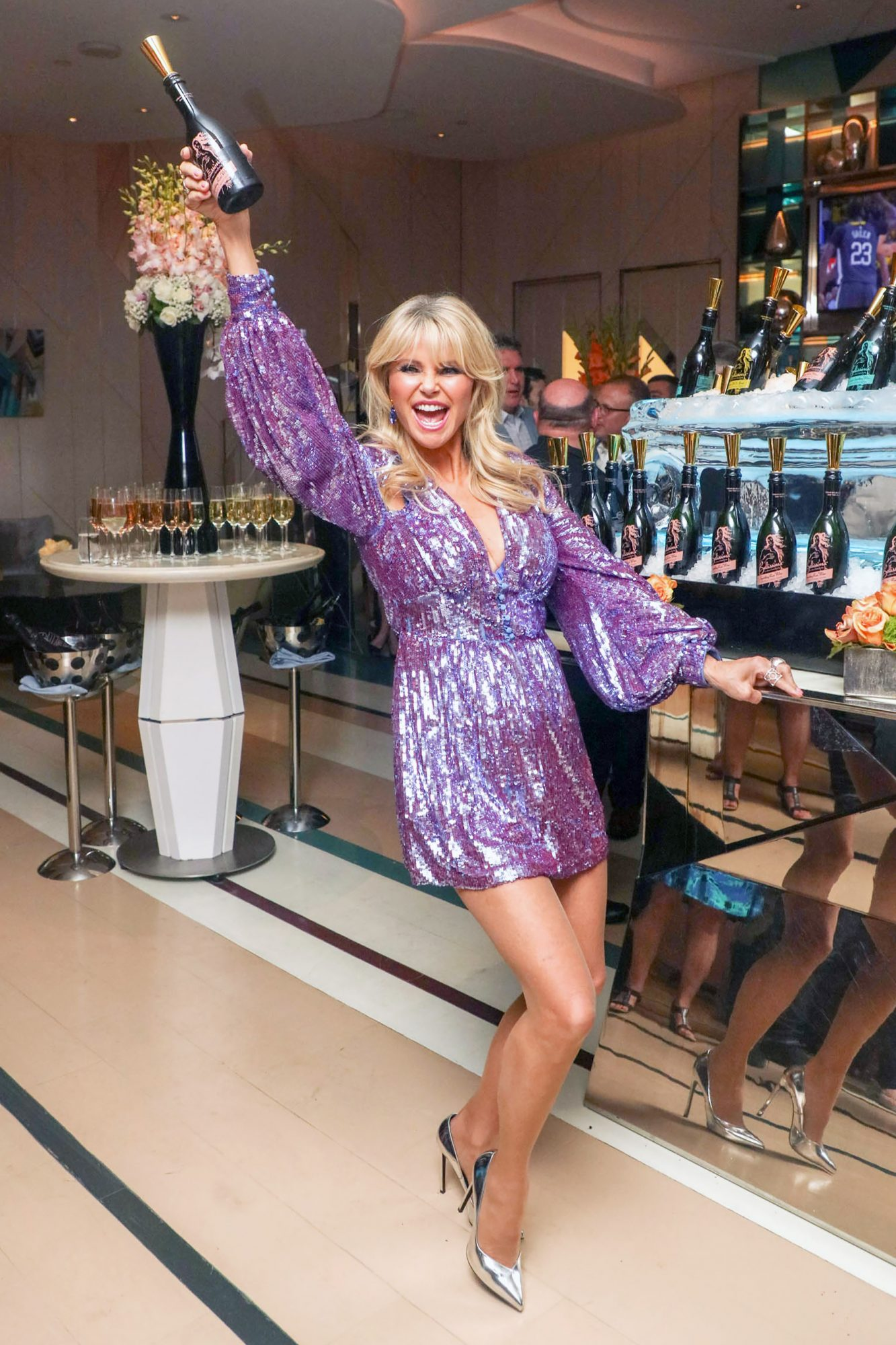 Christie Brinkley Promotes Her Bellissima Prosecco At Wine Spirits Wholesalers Of America Convention