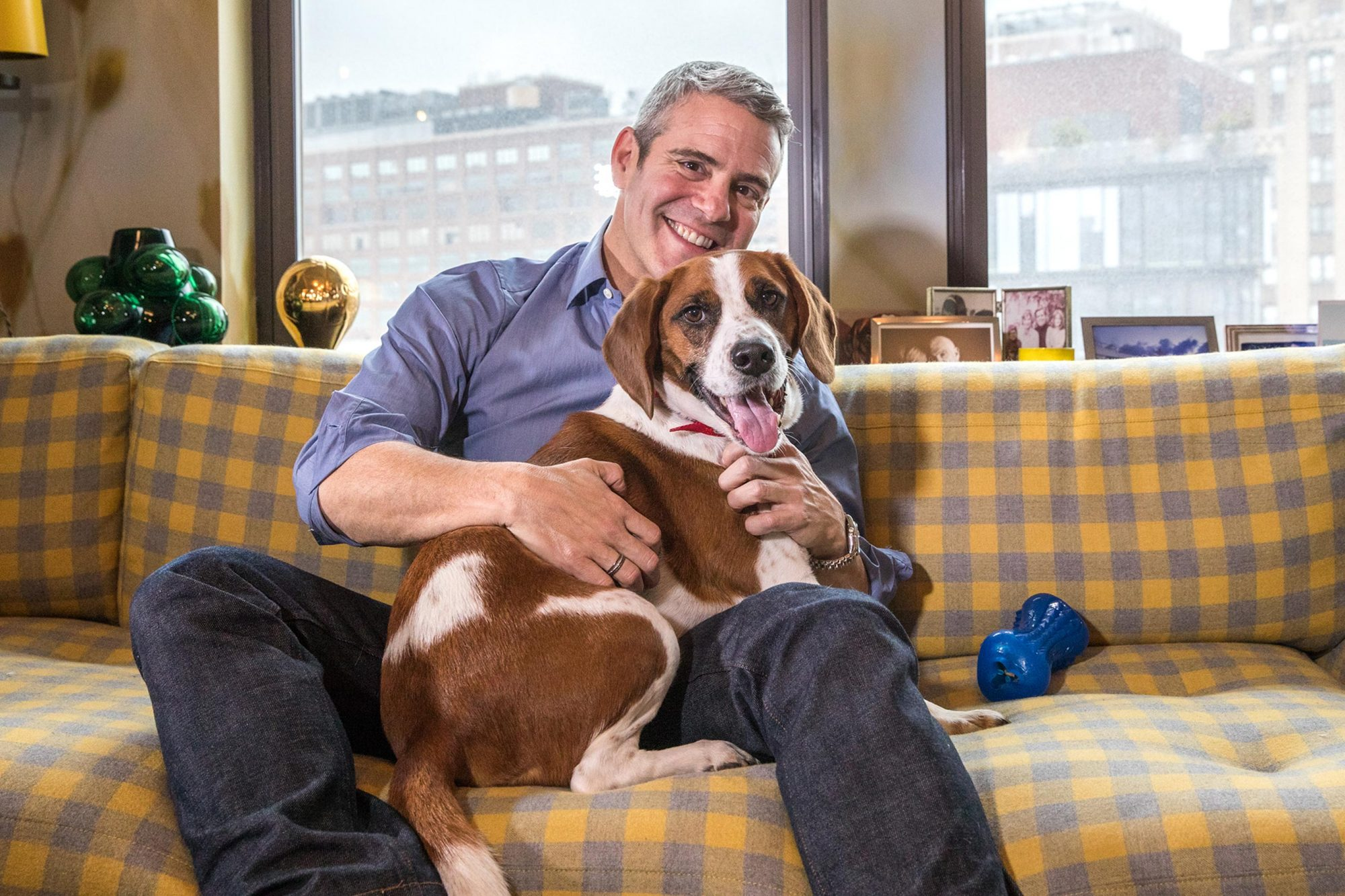 Andy Cohen with Dog CR: Courtesy Purina ONE