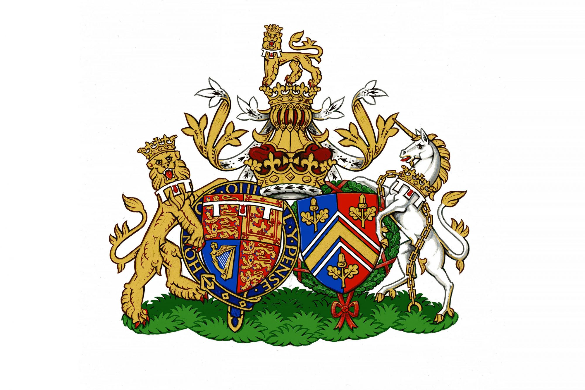 Duke and Duchess of Cambridge's Conjugal Coat of Arms - 27 Sep 2013