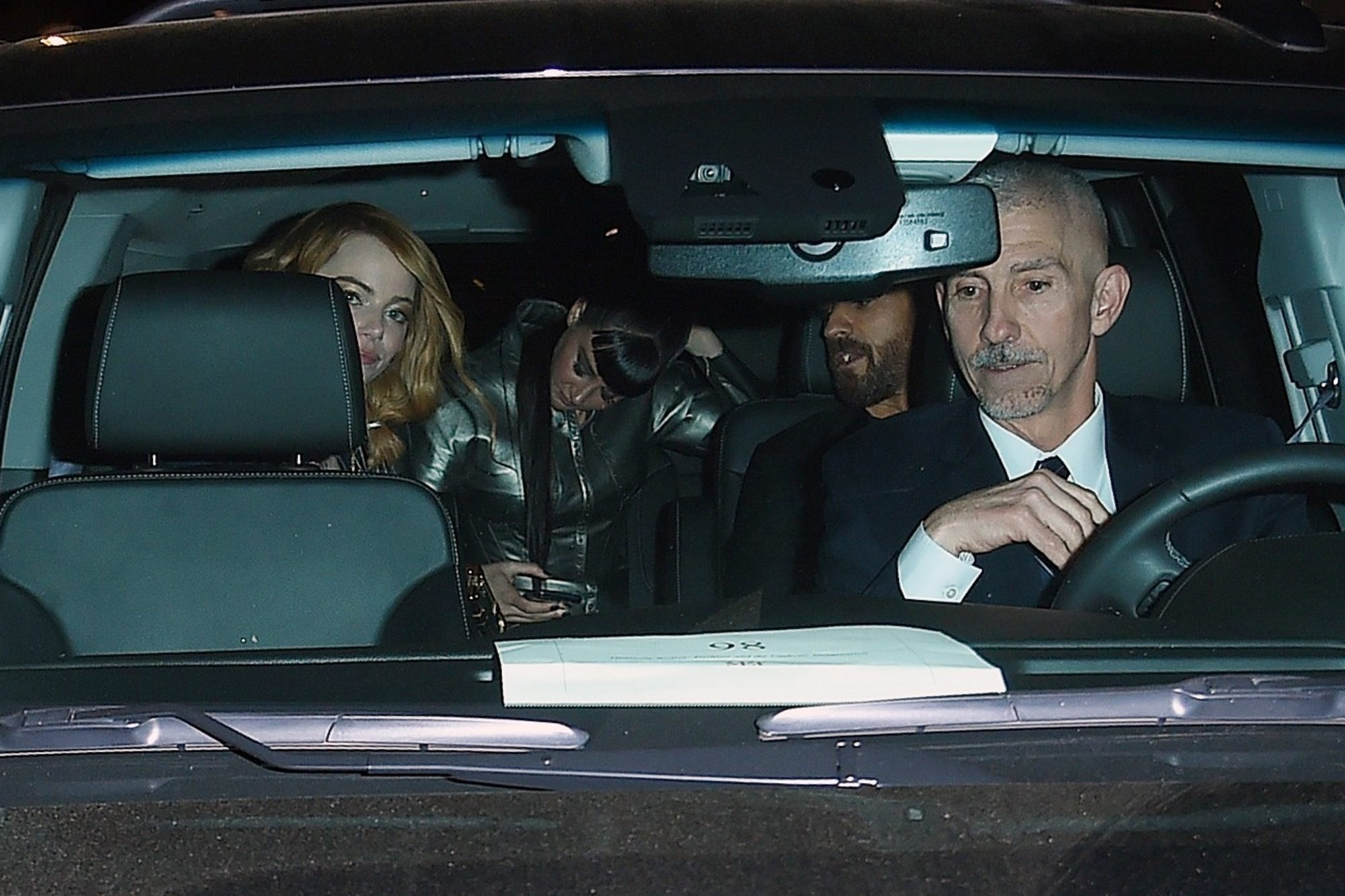 Emma Stone and Justin Theroux hop in the same ride after a MET Gala After Party