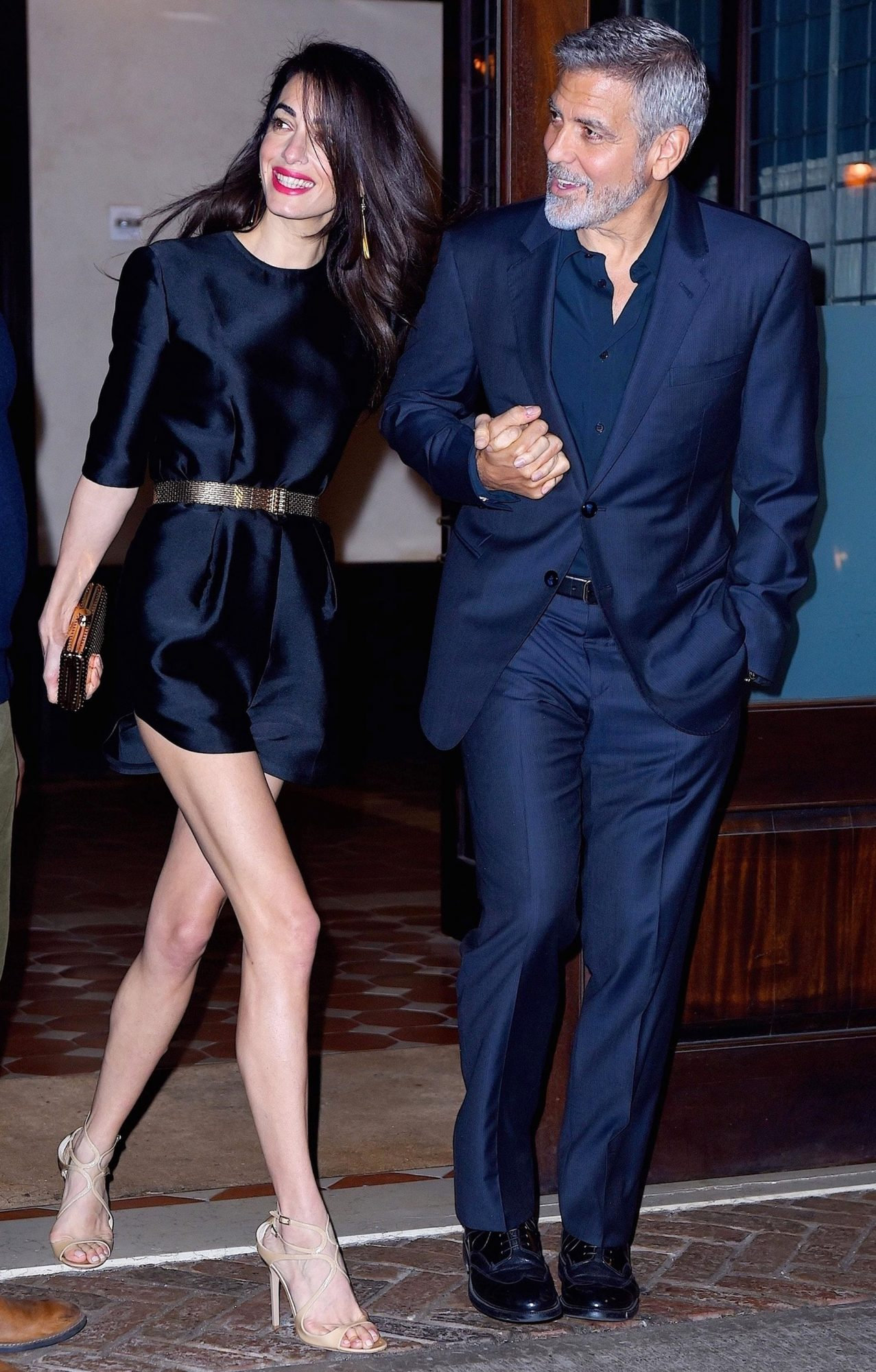 *EXCLUSIVE* George and Amal Clooney are all smiles as they step out to celebrate George's Birthday in Tribeca