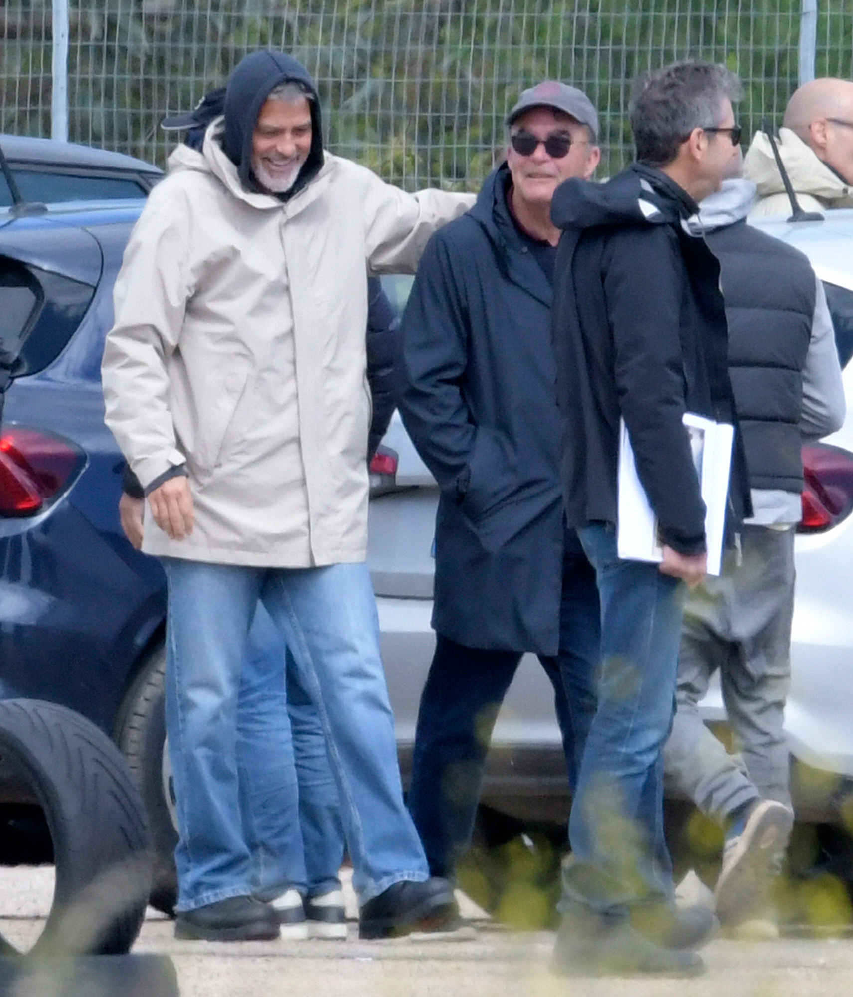 EXCLUSIVE: FIRST LOOK!  George Clooney is Spotted on Set of Catch-22 in Italy