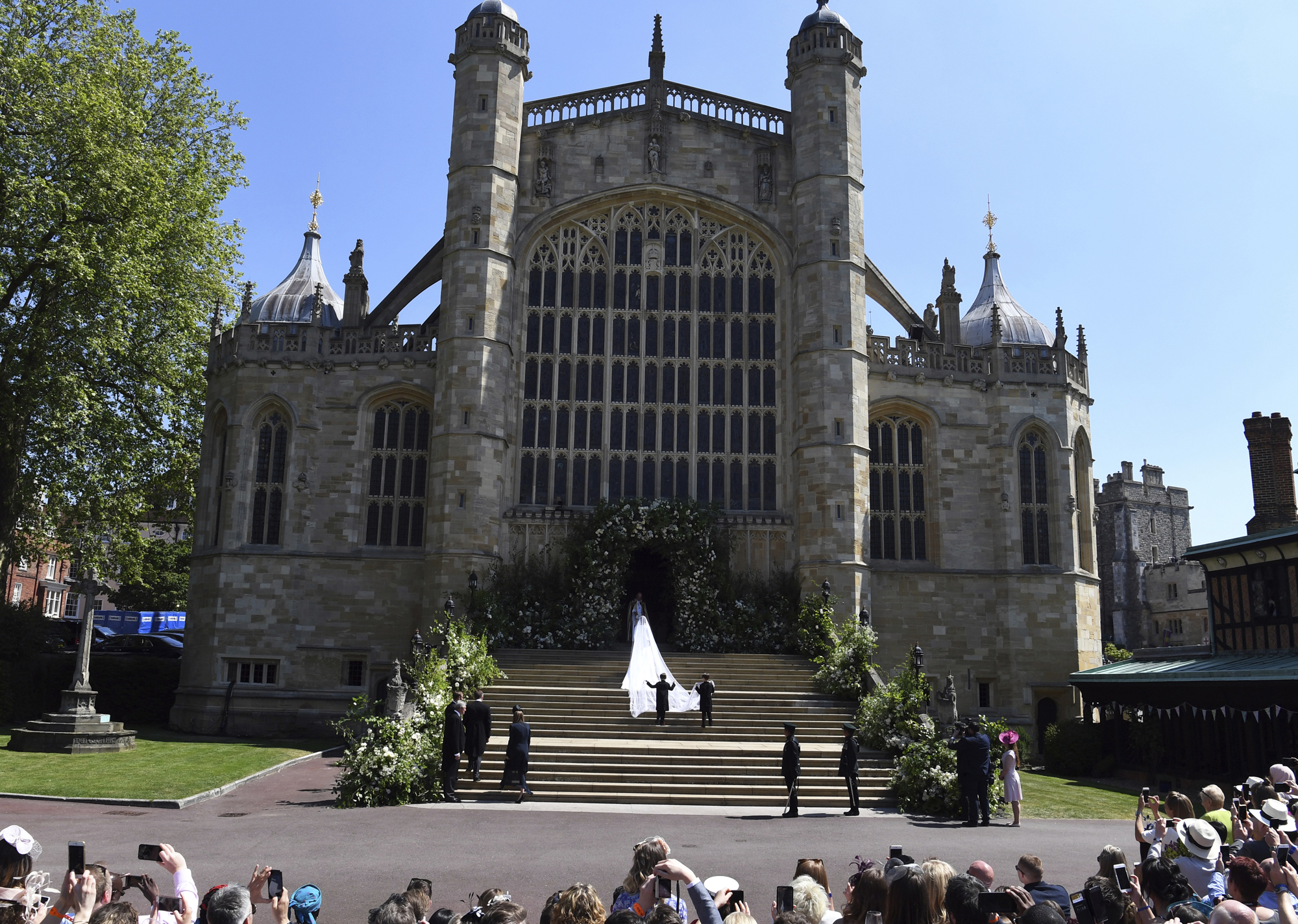 Meghan Markle arriving at St George's Chapel - Windsor