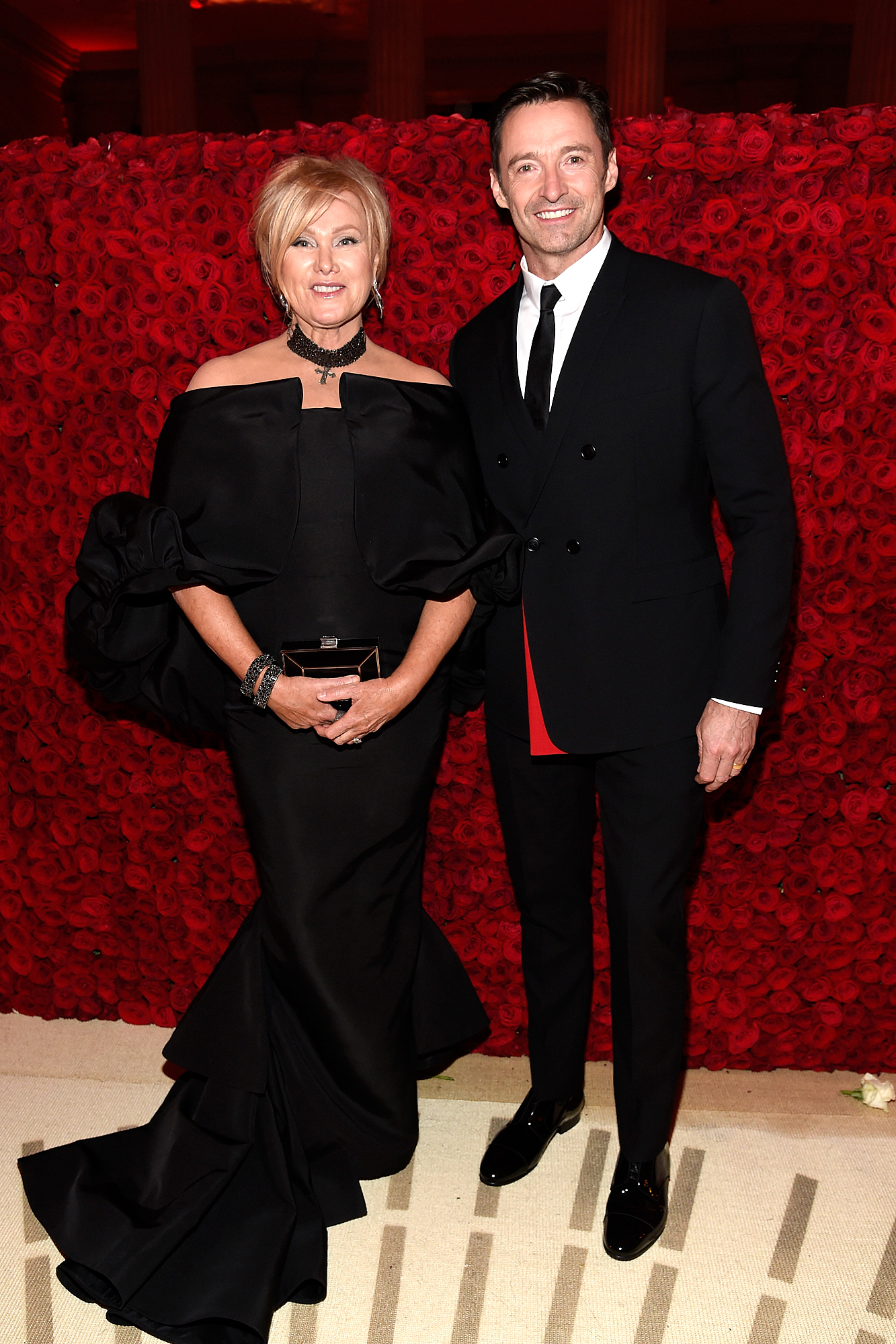 HUGH JACKMAN IN DIOR AND DEBORRA-LEE FURNESS IN CHRISTIAN SIRIANO