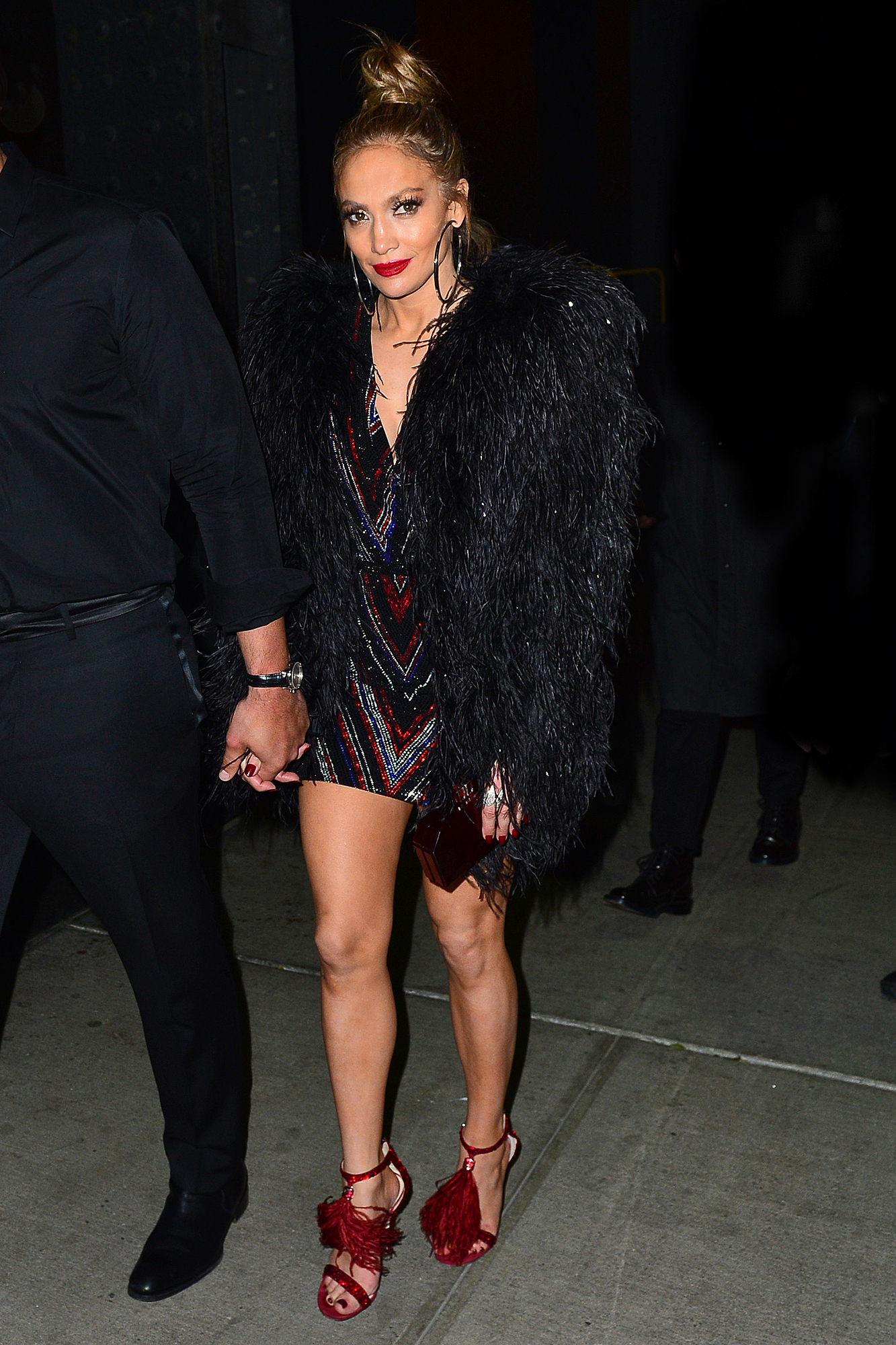 Jennifer Lopez and Alex Rodriguez leave the Met Gala after party at Boom Boom Room in NYC