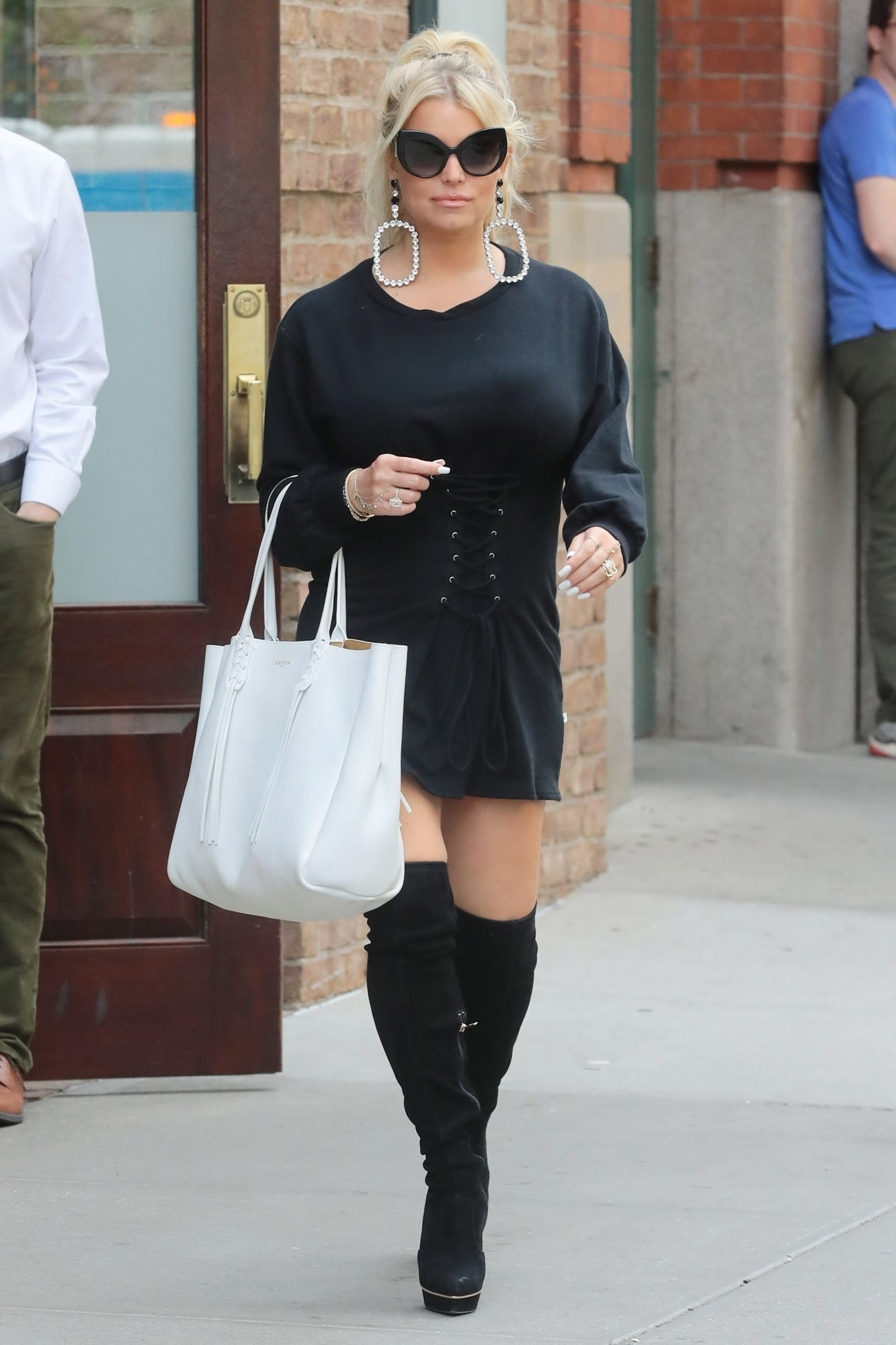 Jessica Simpson step out New York