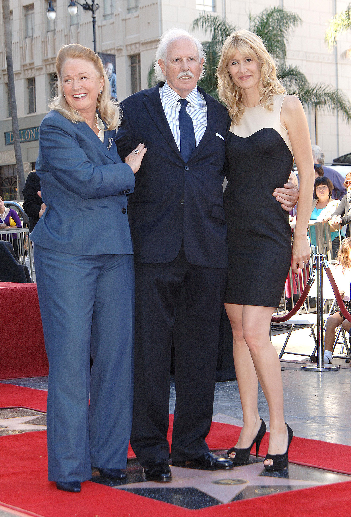 Bruce Dern, Laura Dern and Diane Ladd Honored With Stars On The Hollywood Walk Of Fame, Los Angeles, America - 01 Nov 2010