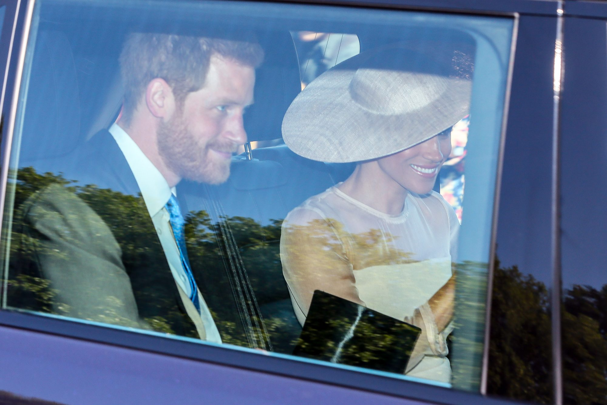 Duke Of Sussex Prince Harry and Duchess Meghan arriving at Buckingham Palace for Prince Charles 70th Birthday - London