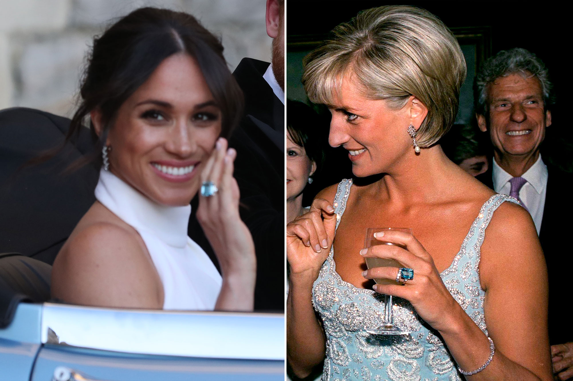 Meghan Markle Wears Princess Diana S Aquamarine Ring People Com