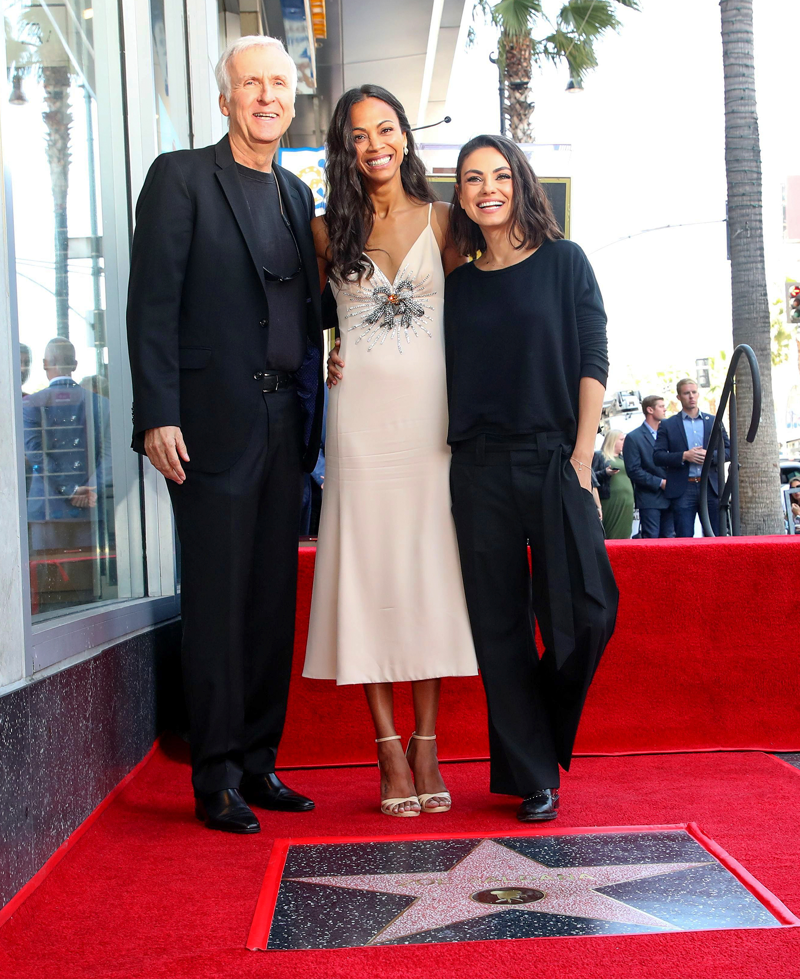 Zoe Saldana honored with a star on the Hollywood Walk of Fame, Los Angeles, USA - 03 May 2018