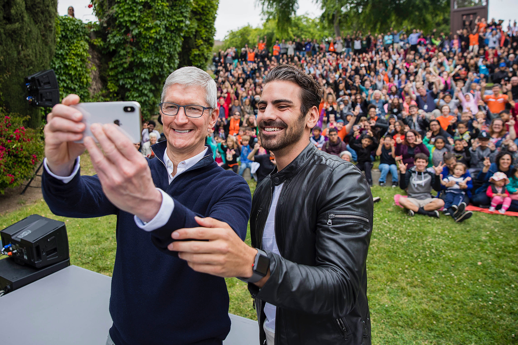 Tim Cook joins Nyle DiMarco
