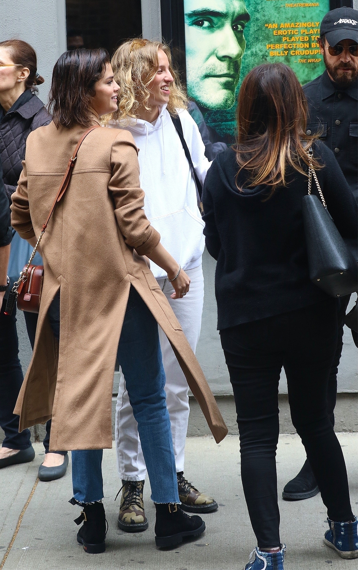*EXCLUSIVE* Selena Gomez meets with friends to catch a play in the West Village