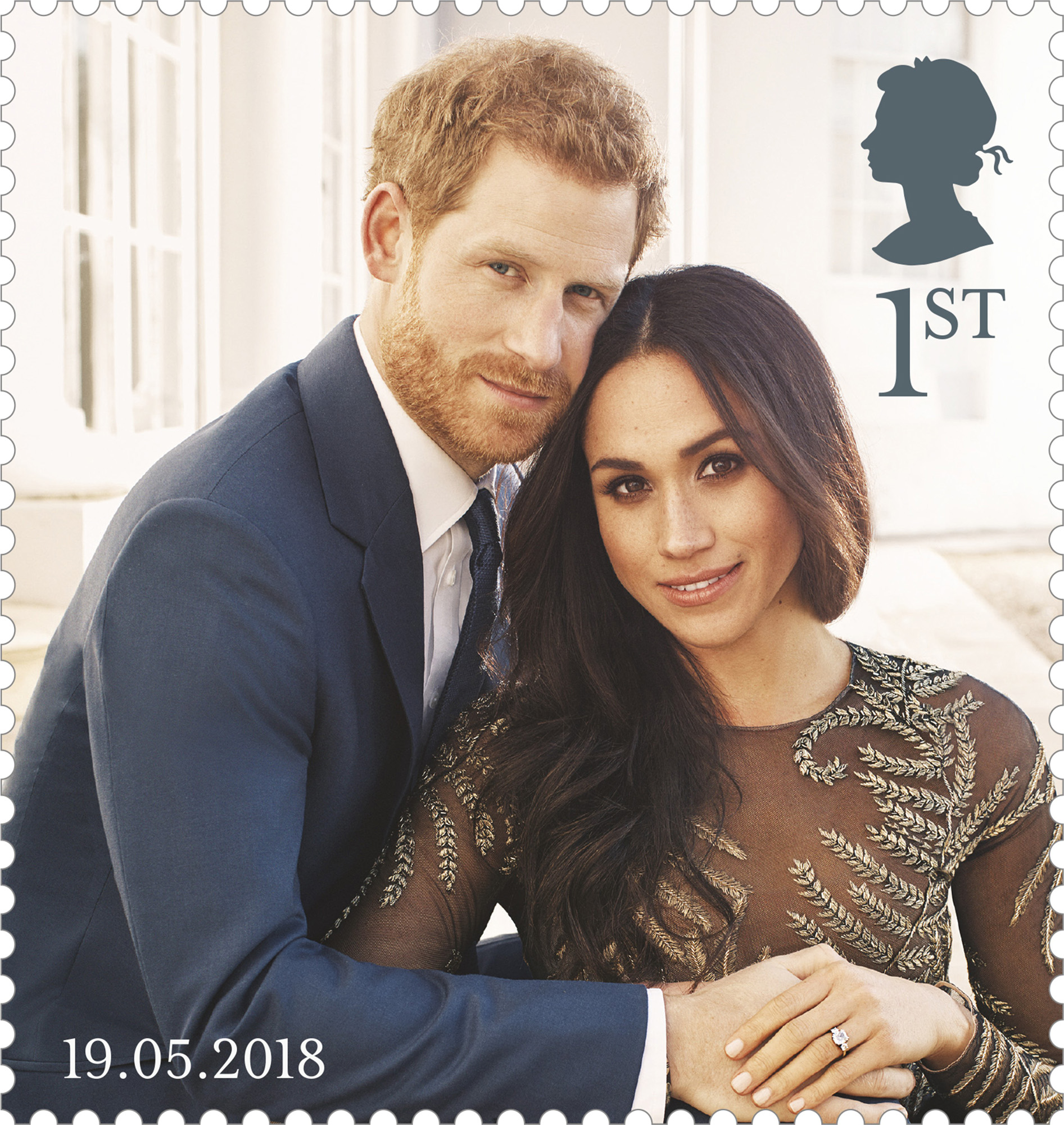 Prince Harry and Ms Meghan Markle 1st Class stamp