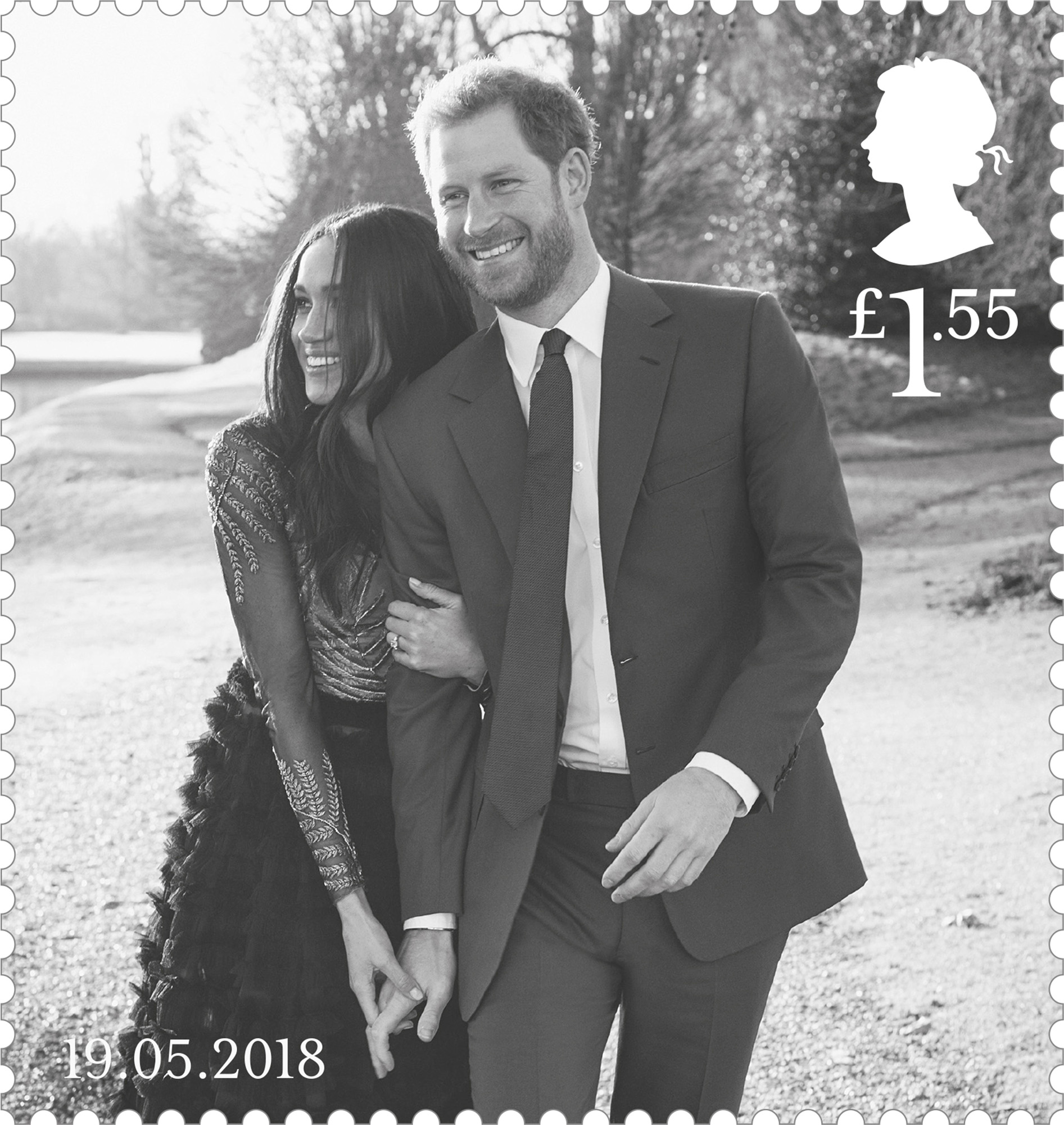 Prince Harry and Ms Meghan Markle £1.55 stamp