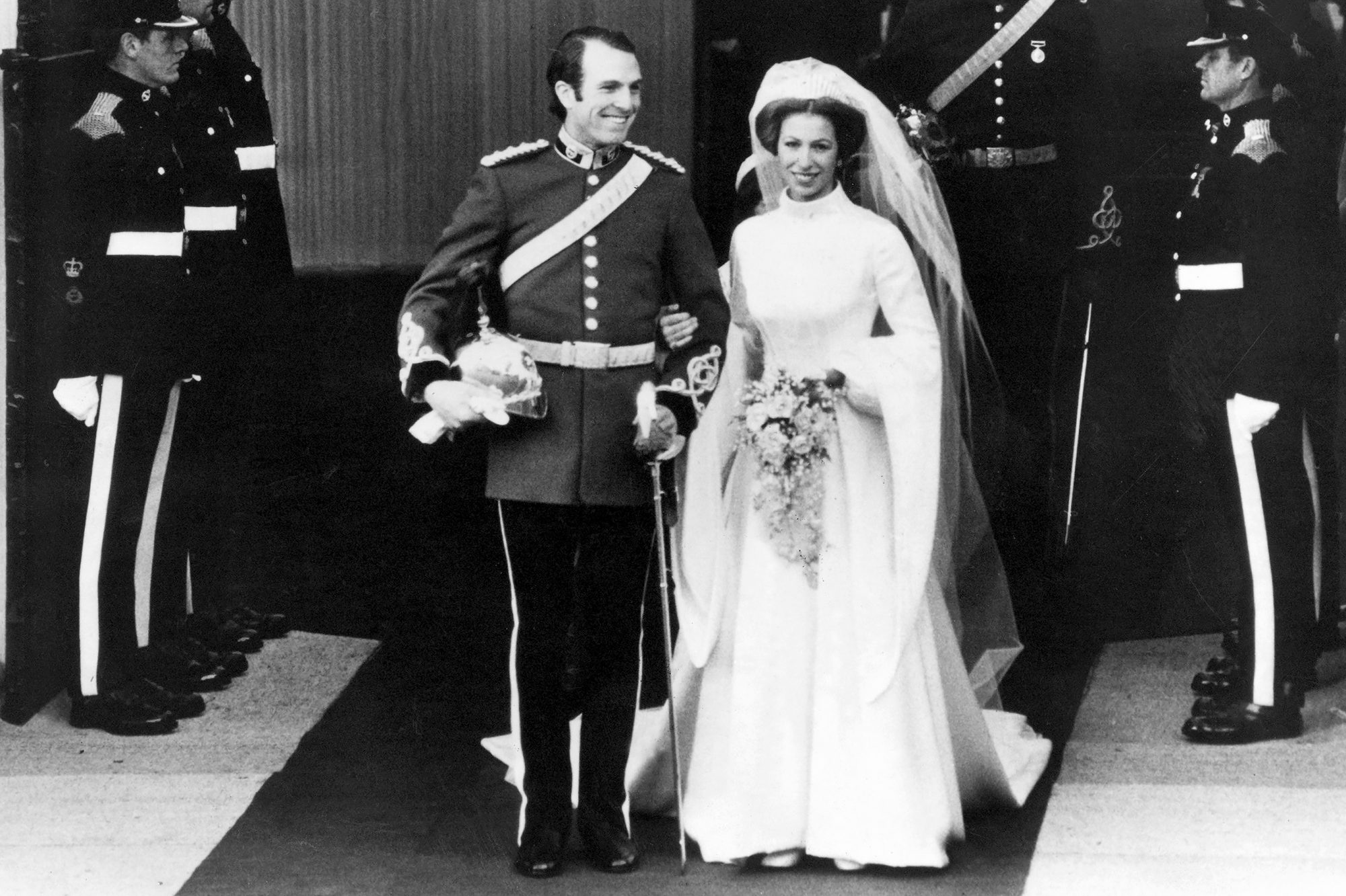 The wedding of Princess Anne and Capt.
