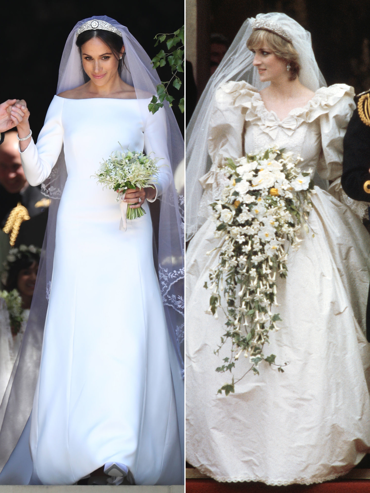 Princess Diana S Wedding Dress Designer On Meghan Markle S Gown