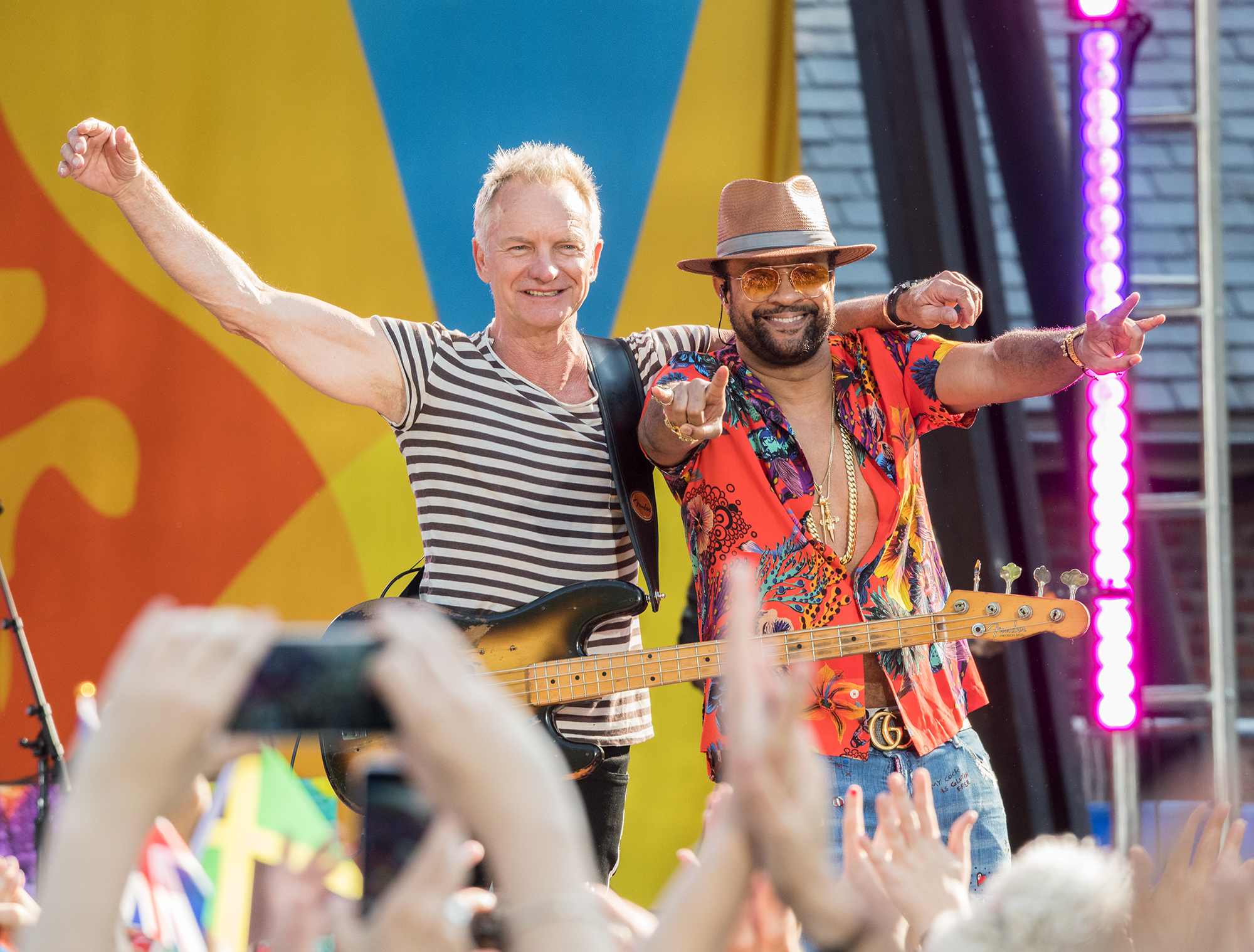 """Sting And Shaggy Perform On """"Good Morning America"""""""