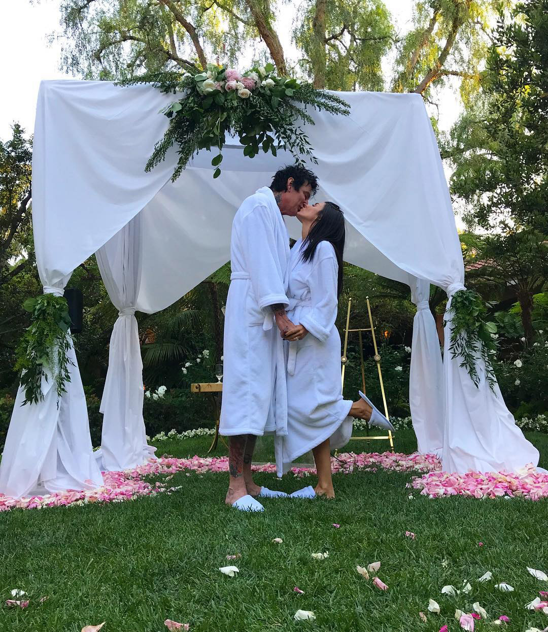 Tommy Lee Teases Surprise Wedding To Brittany Furlan In White