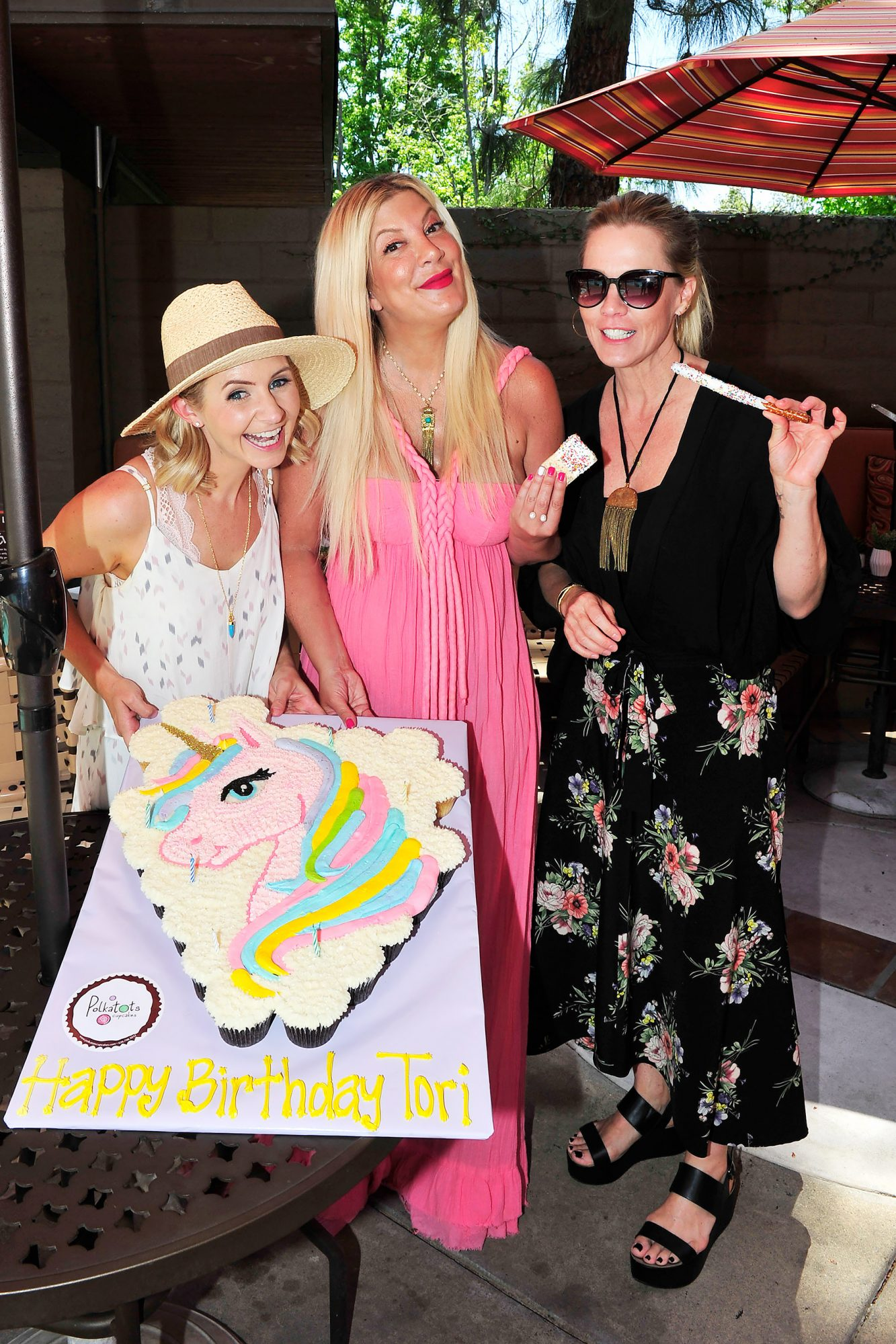 Exclusive - The Millennial Mamas Throw Tori Spelling a Birthday Party