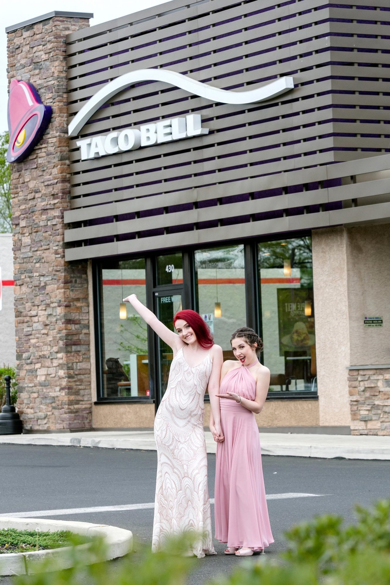 Prom Photos at Taco Bell CR: Rachel Beck Photography