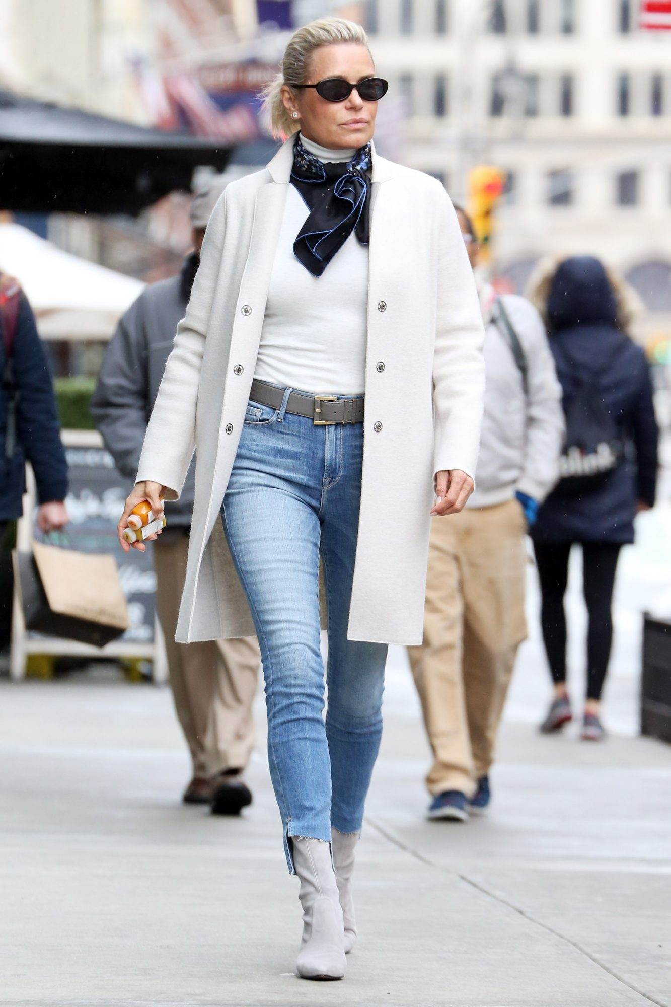 Yolanda Hadid is Spotted Out on a Stroll in New York City