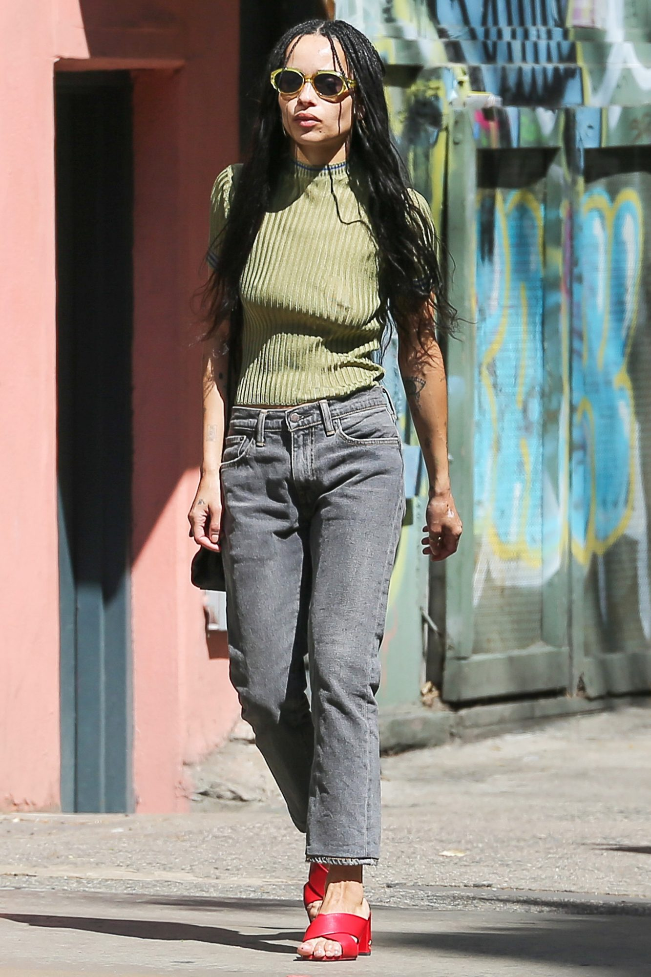 EXCLUSIVE:  Zoe Kravitz Steps out For a Stroll In New York City