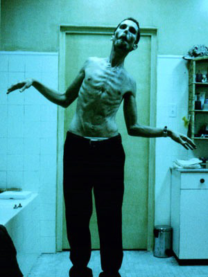 CHRISTIAN BALE IN THE MACHINIST AND AMERICAN HUSTLE