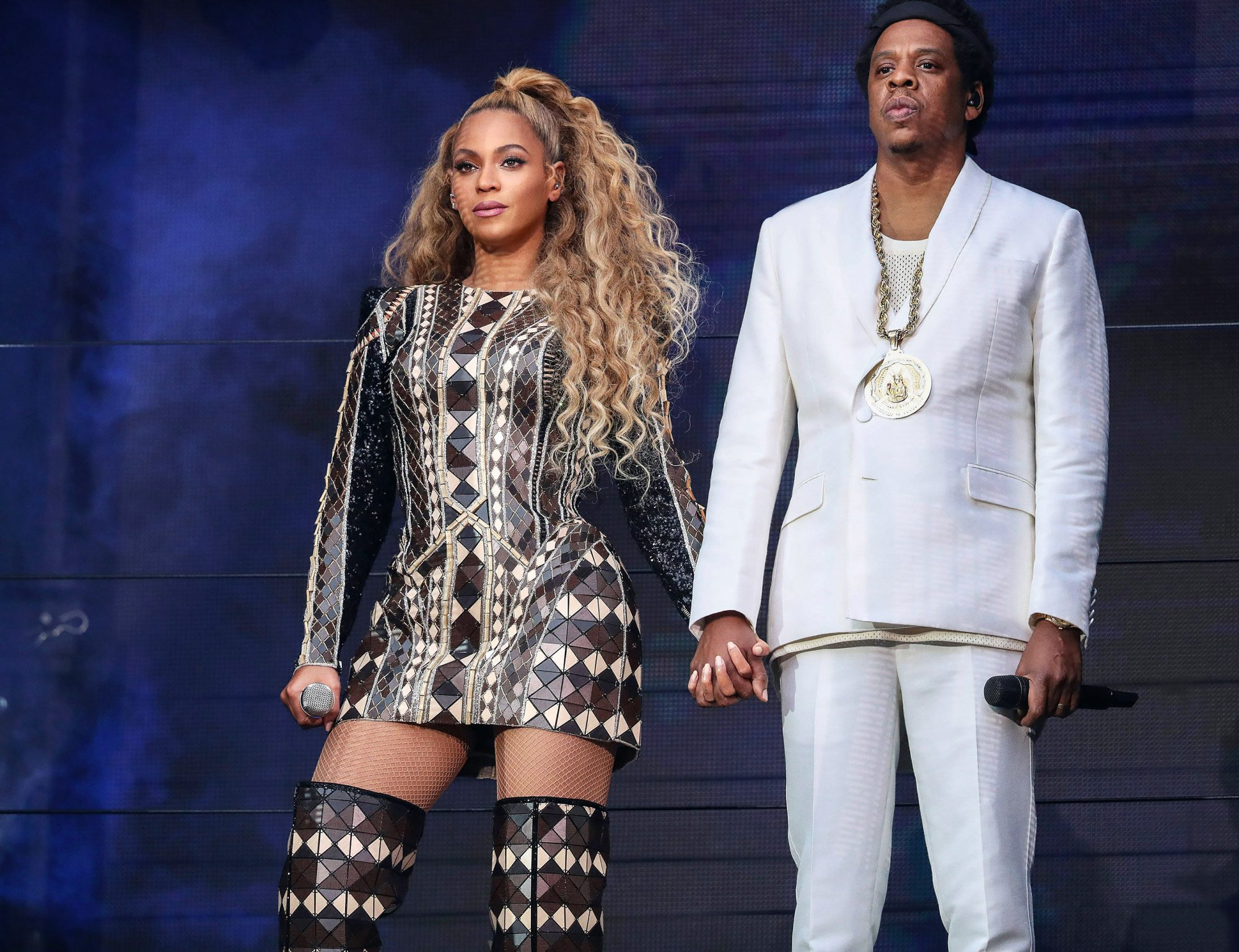 Beyonce and Jay-Z in concert, 'On The Run II Tour', Etihad Stadium, Manchester, UK - 13 Jun 2018