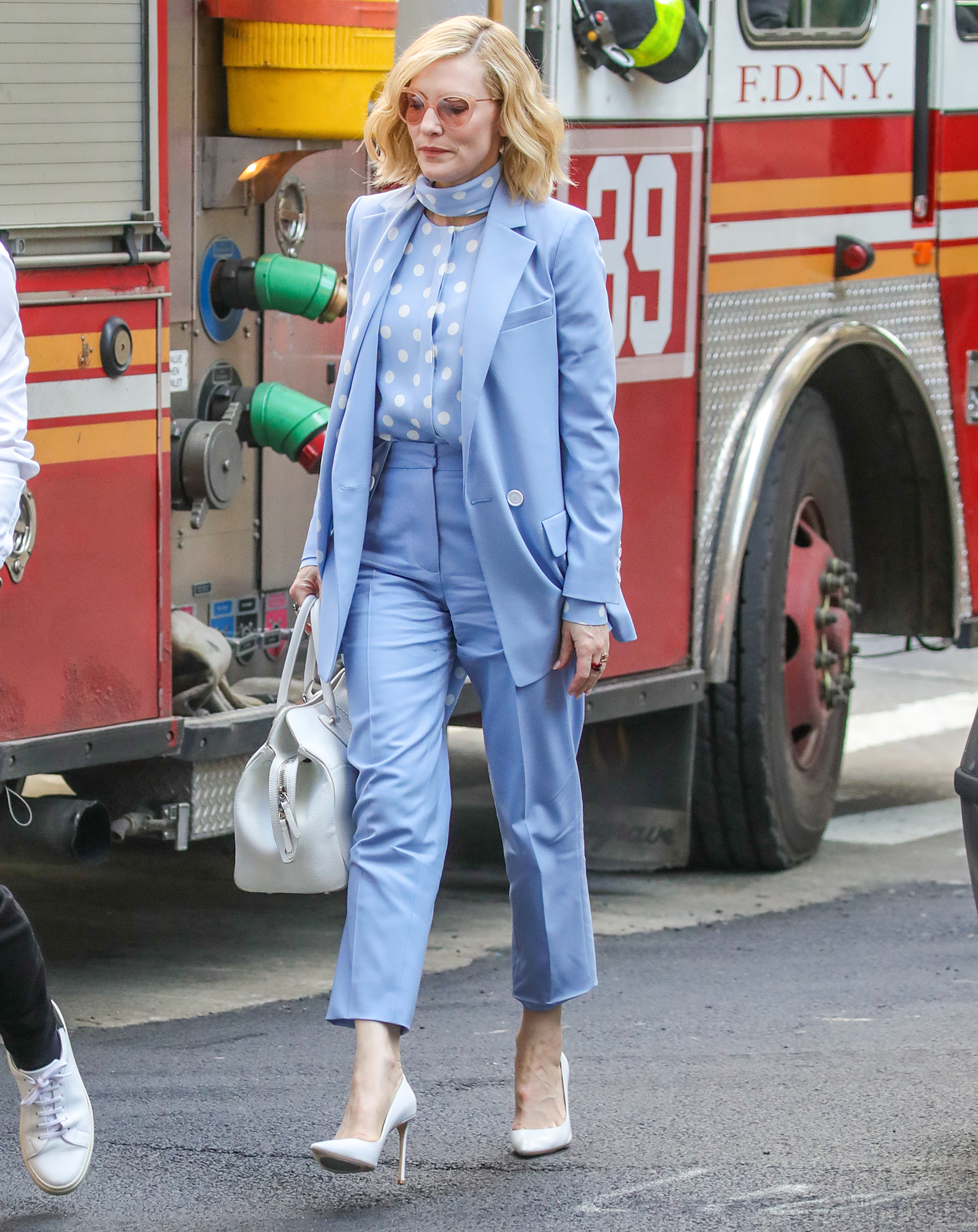 EXCLUSIVE: Cate Blanchett is Spotted Out and About in New York City